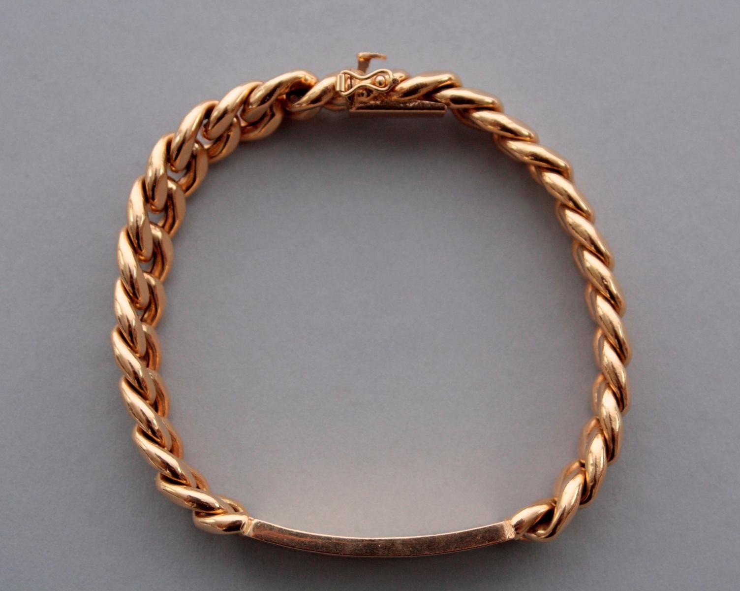 Armband mit Gravur, 18 Karat Gelbgold-4