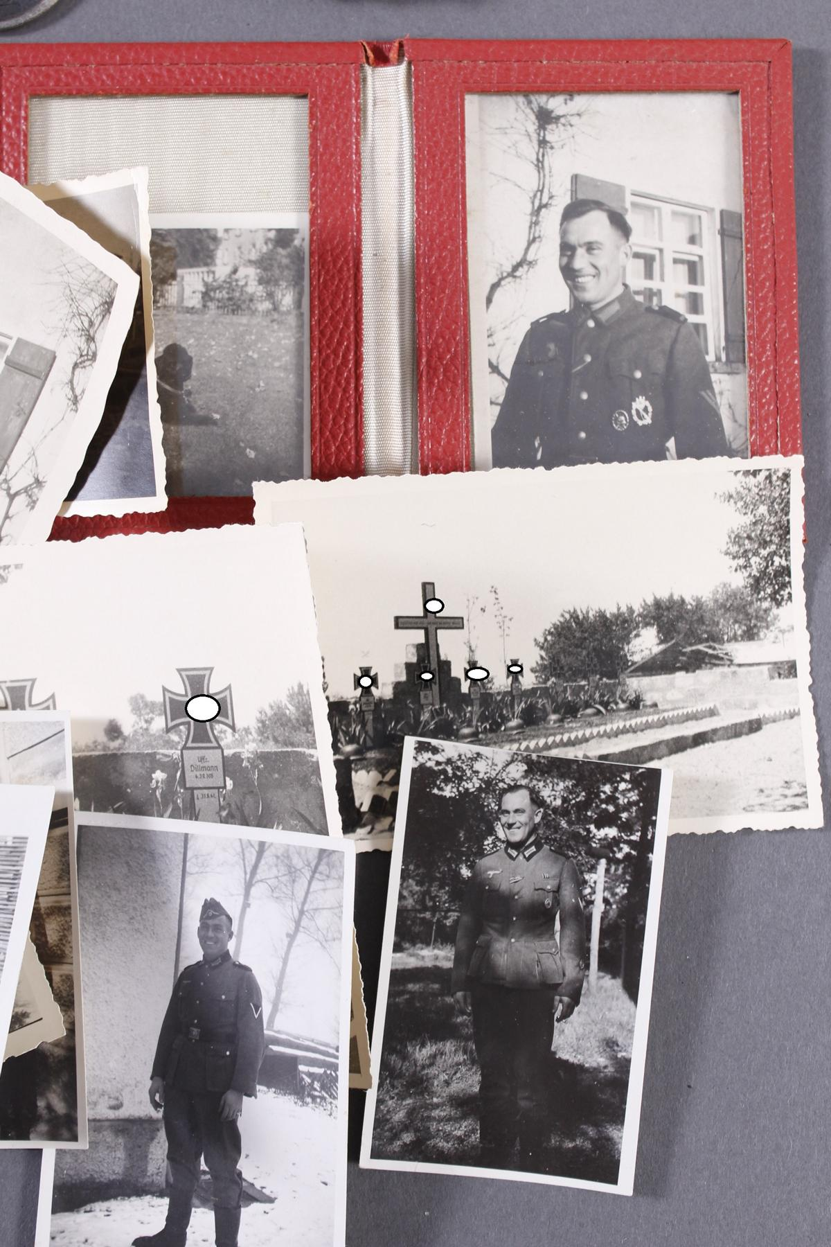 Militaria Konvolut WK II: Orden, Abzeichen und Fotos-7