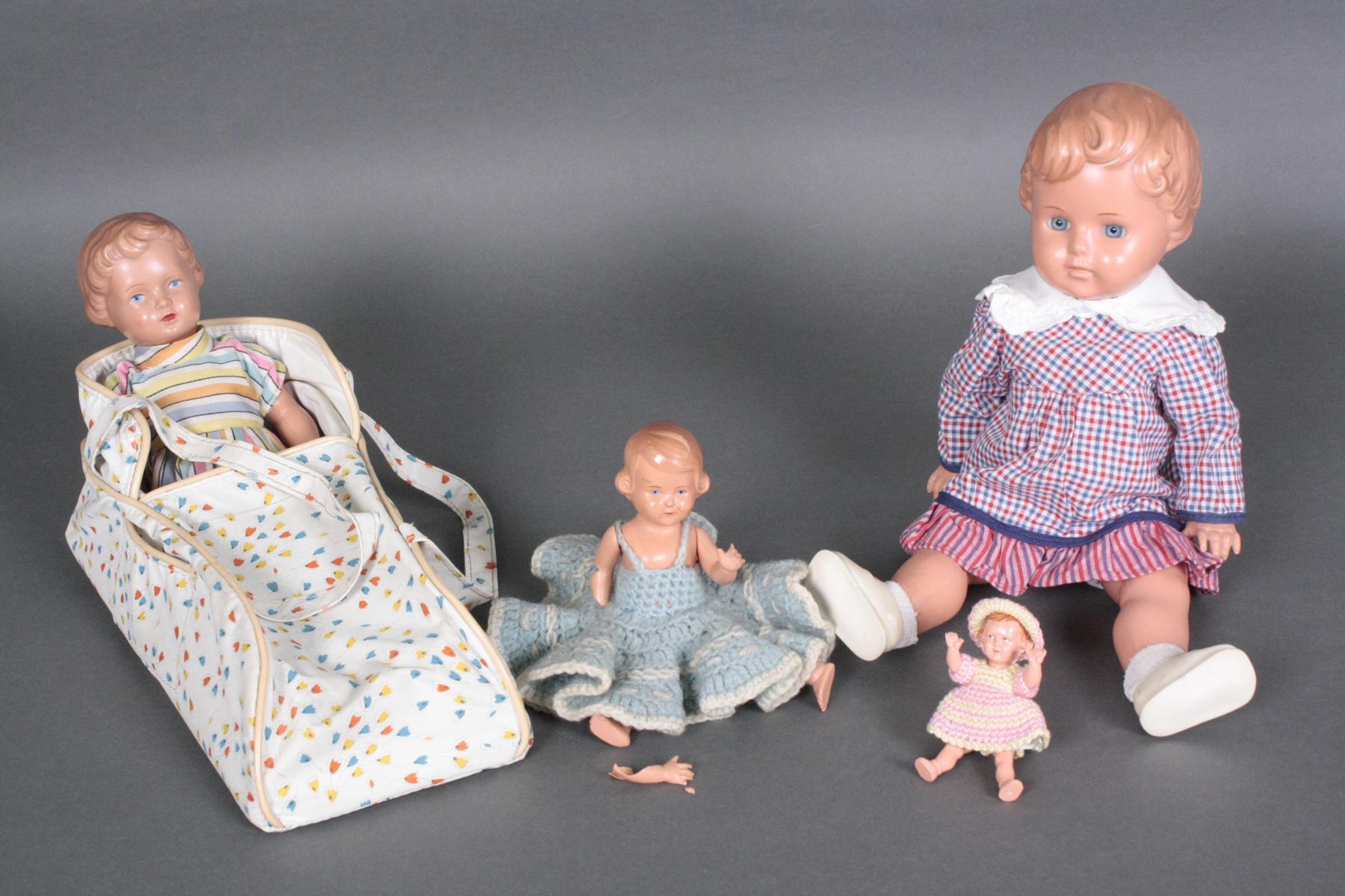 Vier Celluloid Puppen-Mädchen-2
