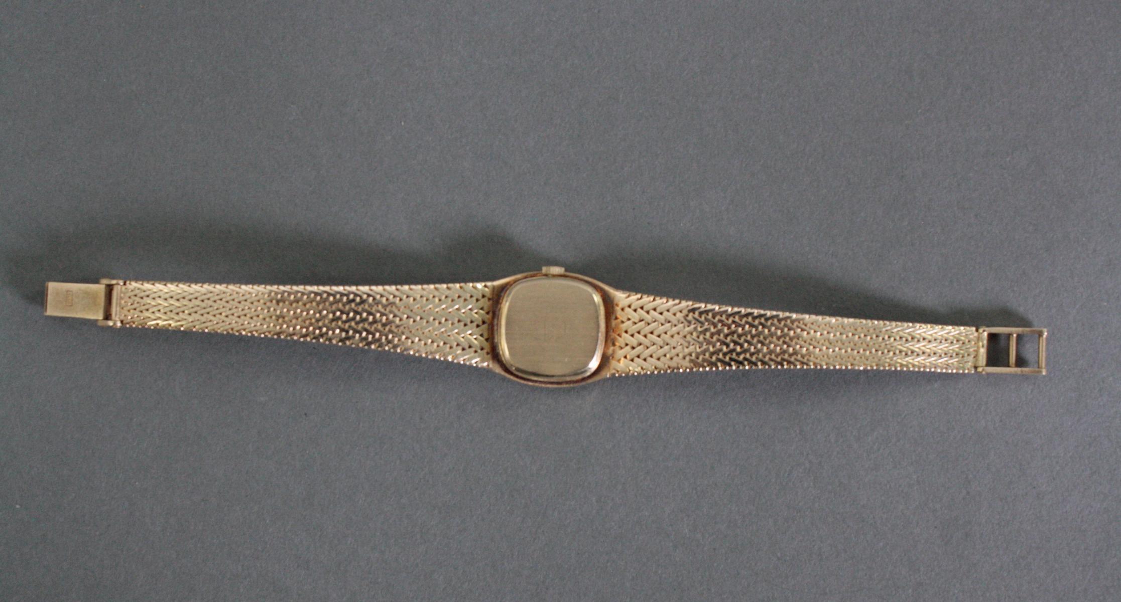 Favor Damenarmbanduhr, 14 Karat Gelbgold-2