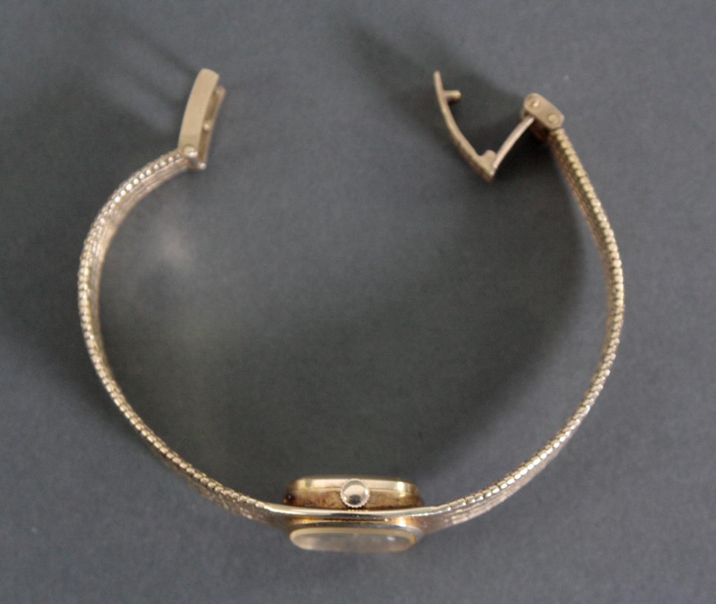 Favor Damenarmbanduhr, 14 Karat Gelbgold-4