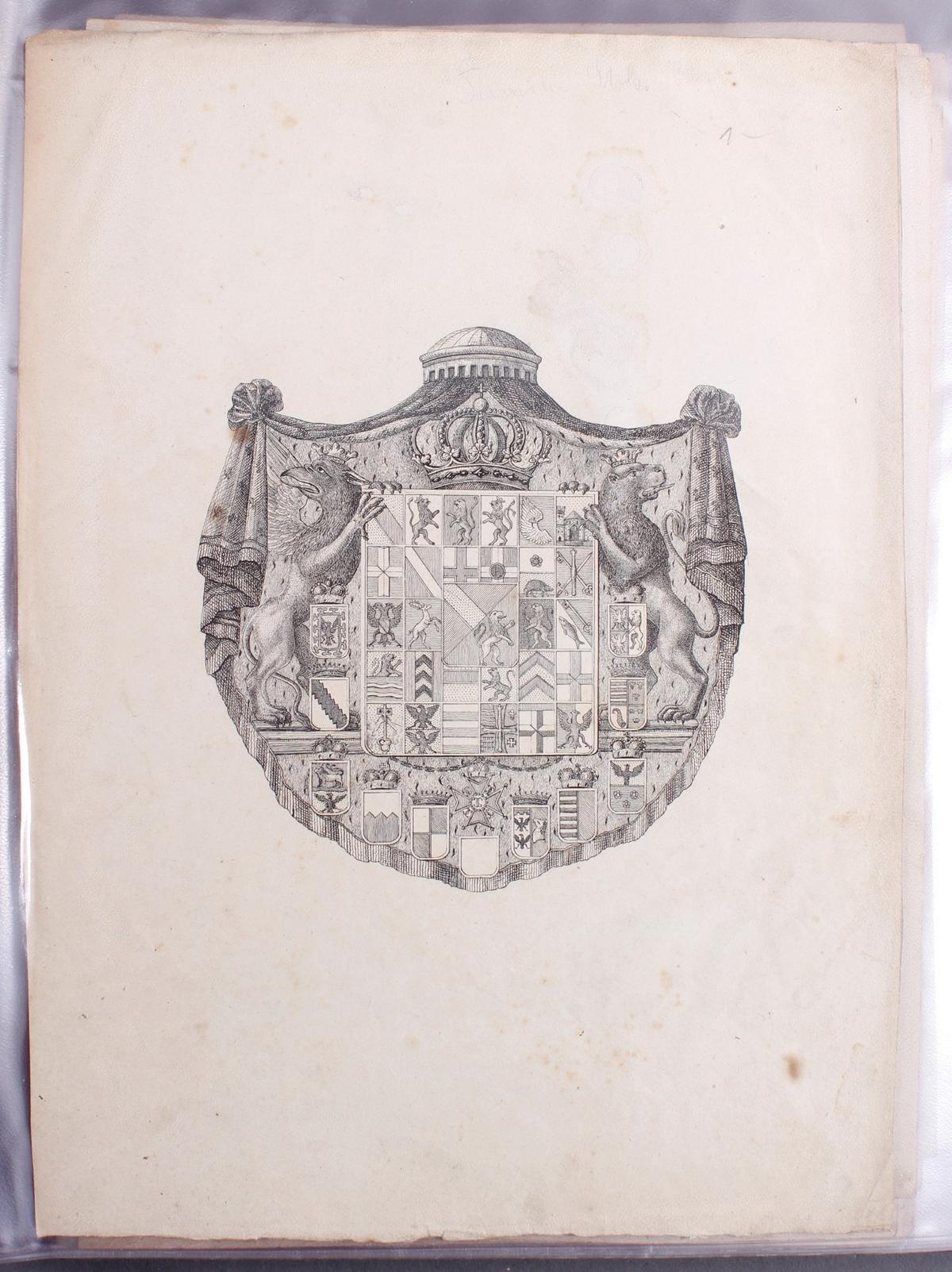 Abbildungen der Regenten des fürstlichen Hauses Baden-2
