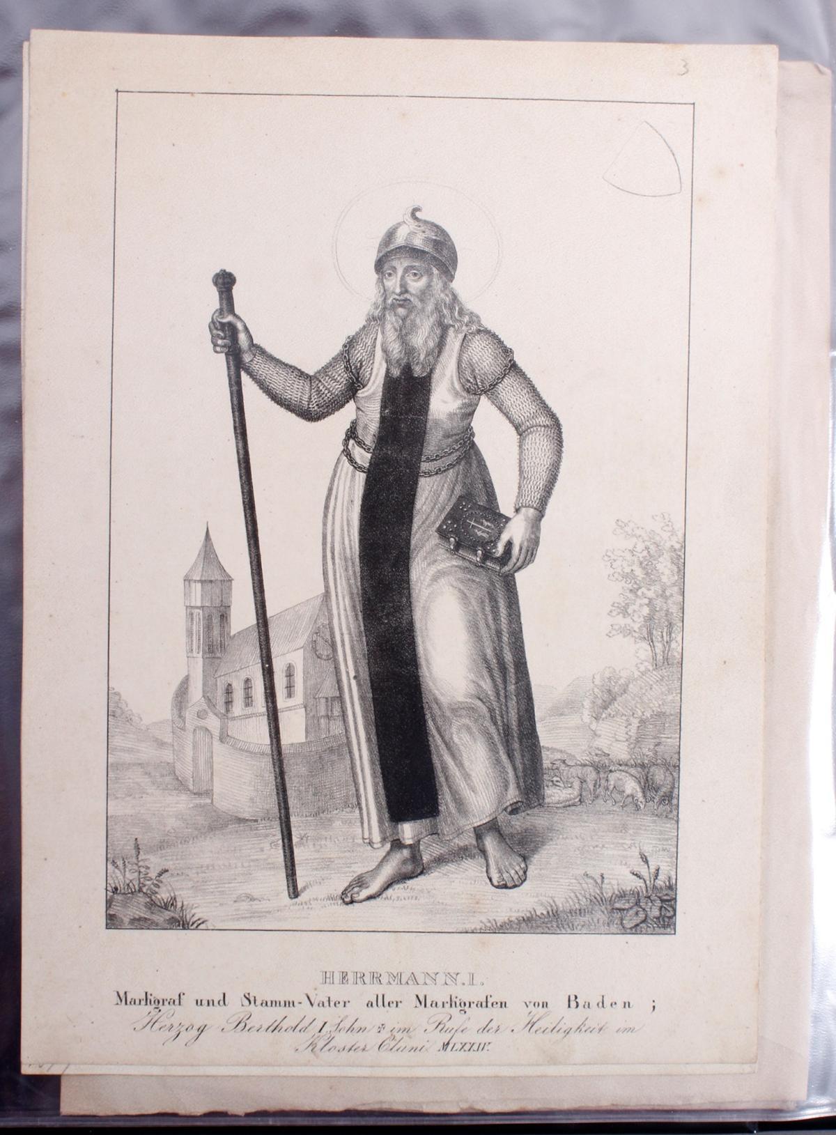 Abbildungen der Regenten des fürstlichen Hauses Baden-4