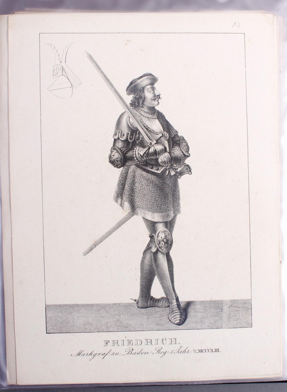 Abbildungen der Regenten des fürstlichen Hauses Baden-12