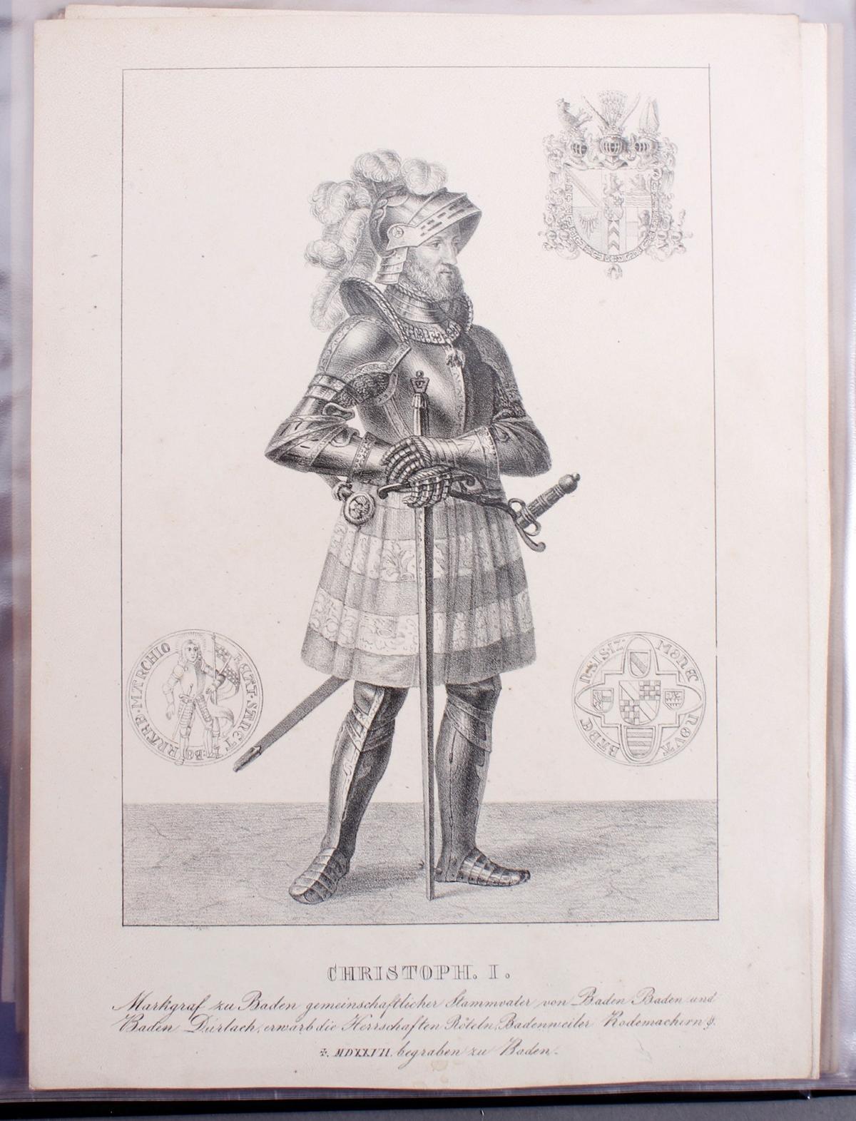 Abbildungen der Regenten des fürstlichen Hauses Baden-20