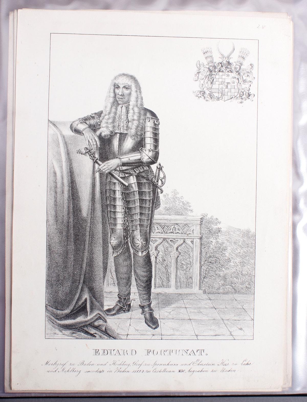 Abbildungen der Regenten des fürstlichen Hauses Baden-28
