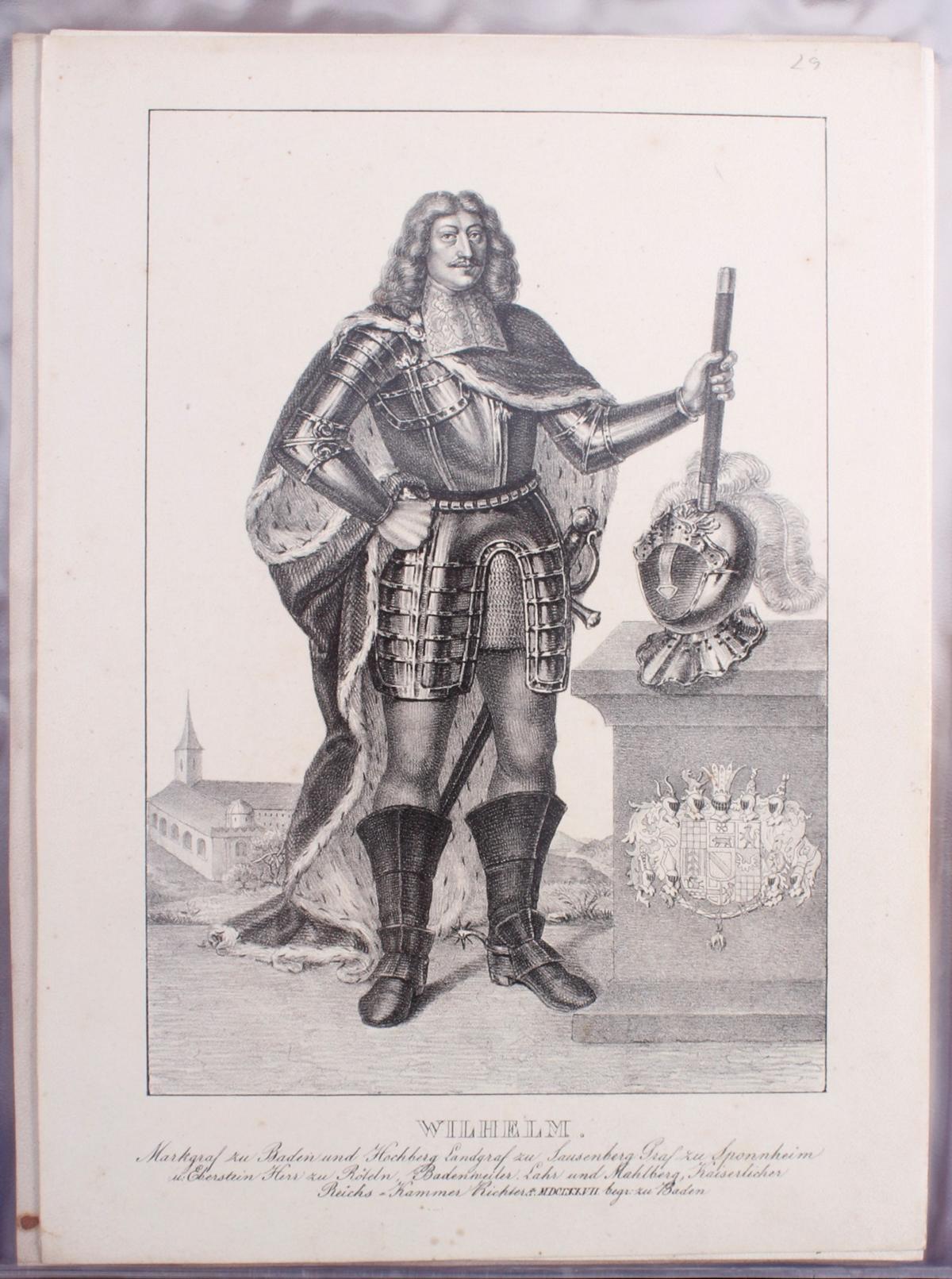 Abbildungen der Regenten des fürstlichen Hauses Baden-30