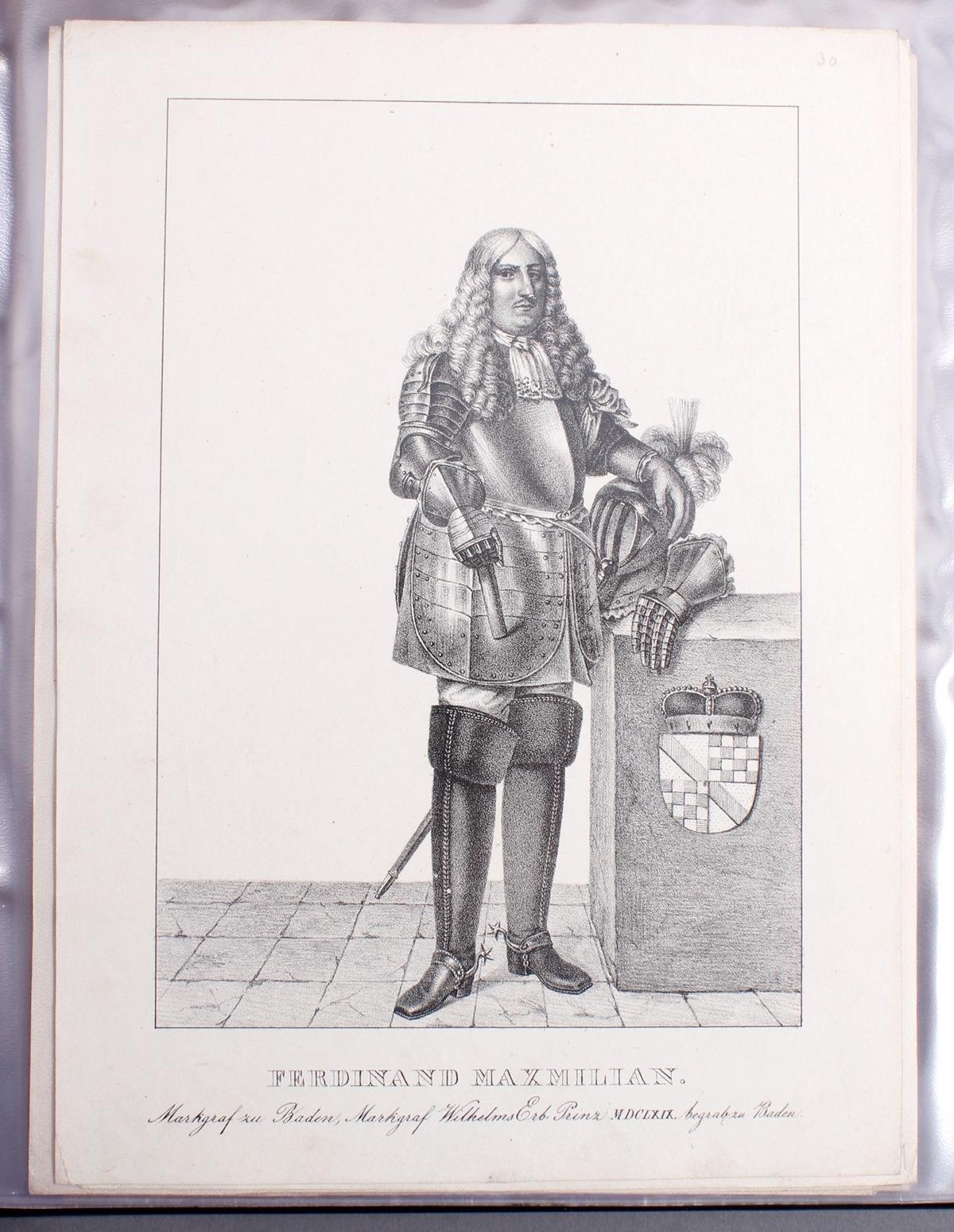 Abbildungen der Regenten des fürstlichen Hauses Baden-31