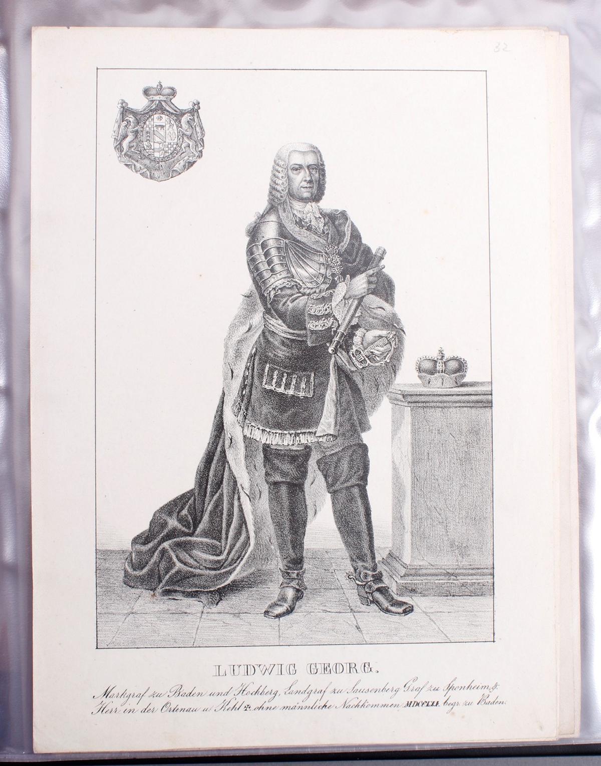 Abbildungen der Regenten des fürstlichen Hauses Baden-33