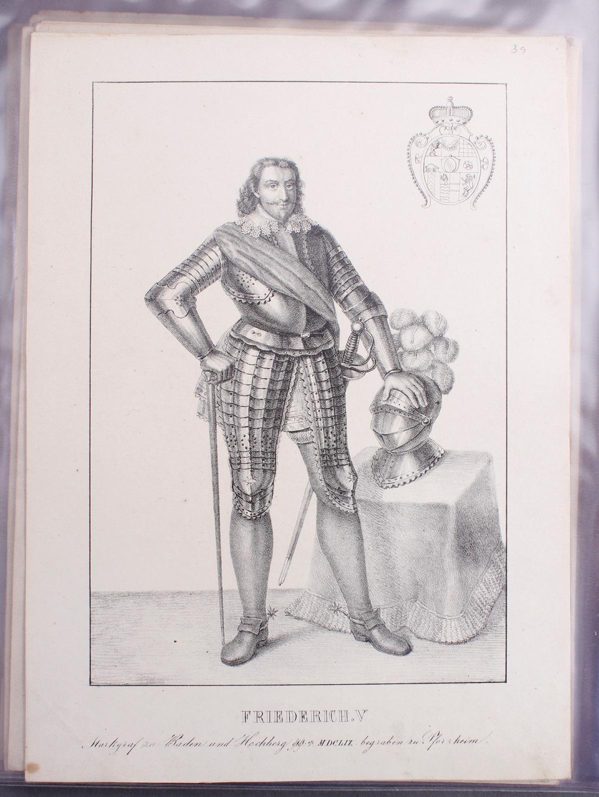 Abbildungen der Regenten des fürstlichen Hauses Baden-38