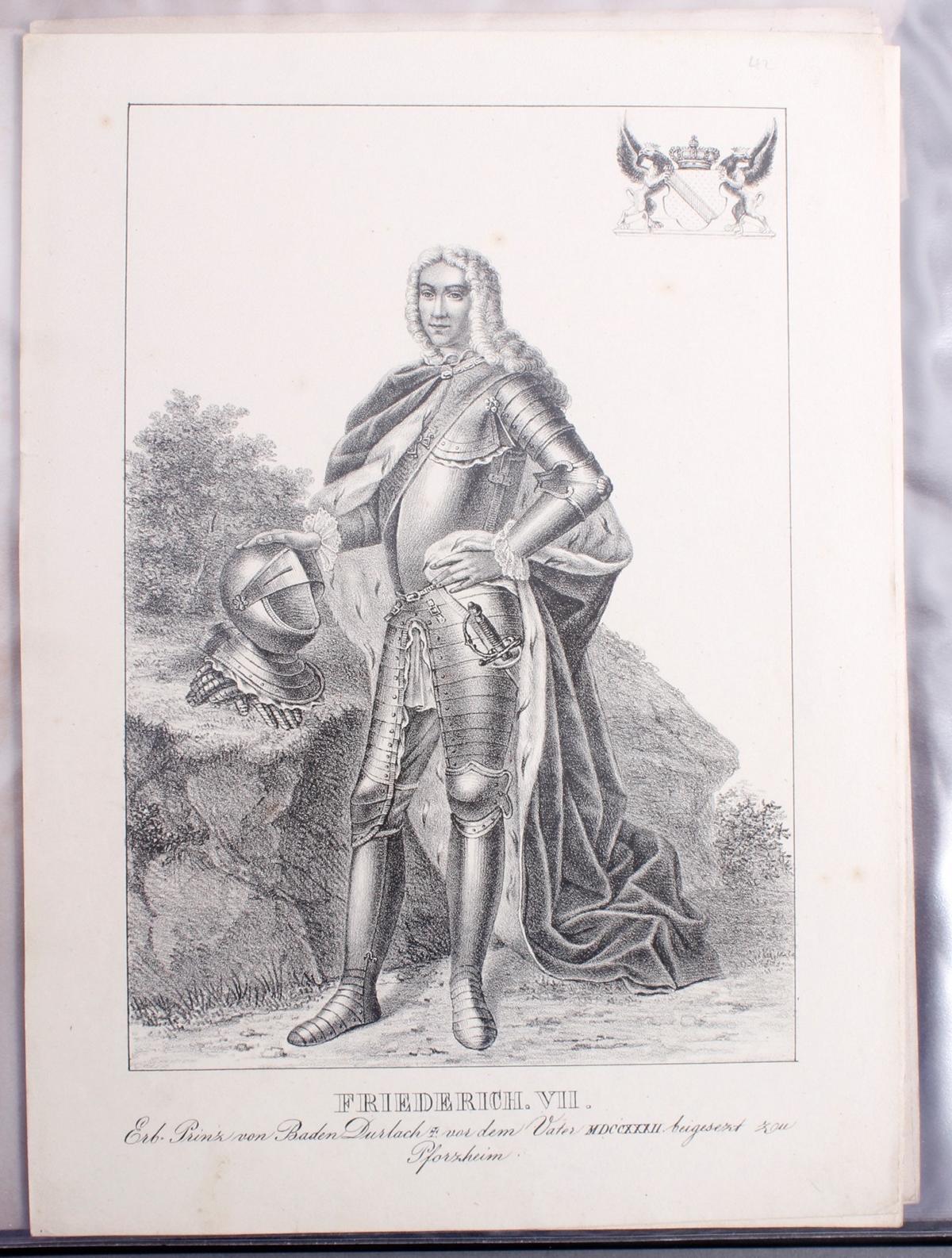 Abbildungen der Regenten des fürstlichen Hauses Baden-41