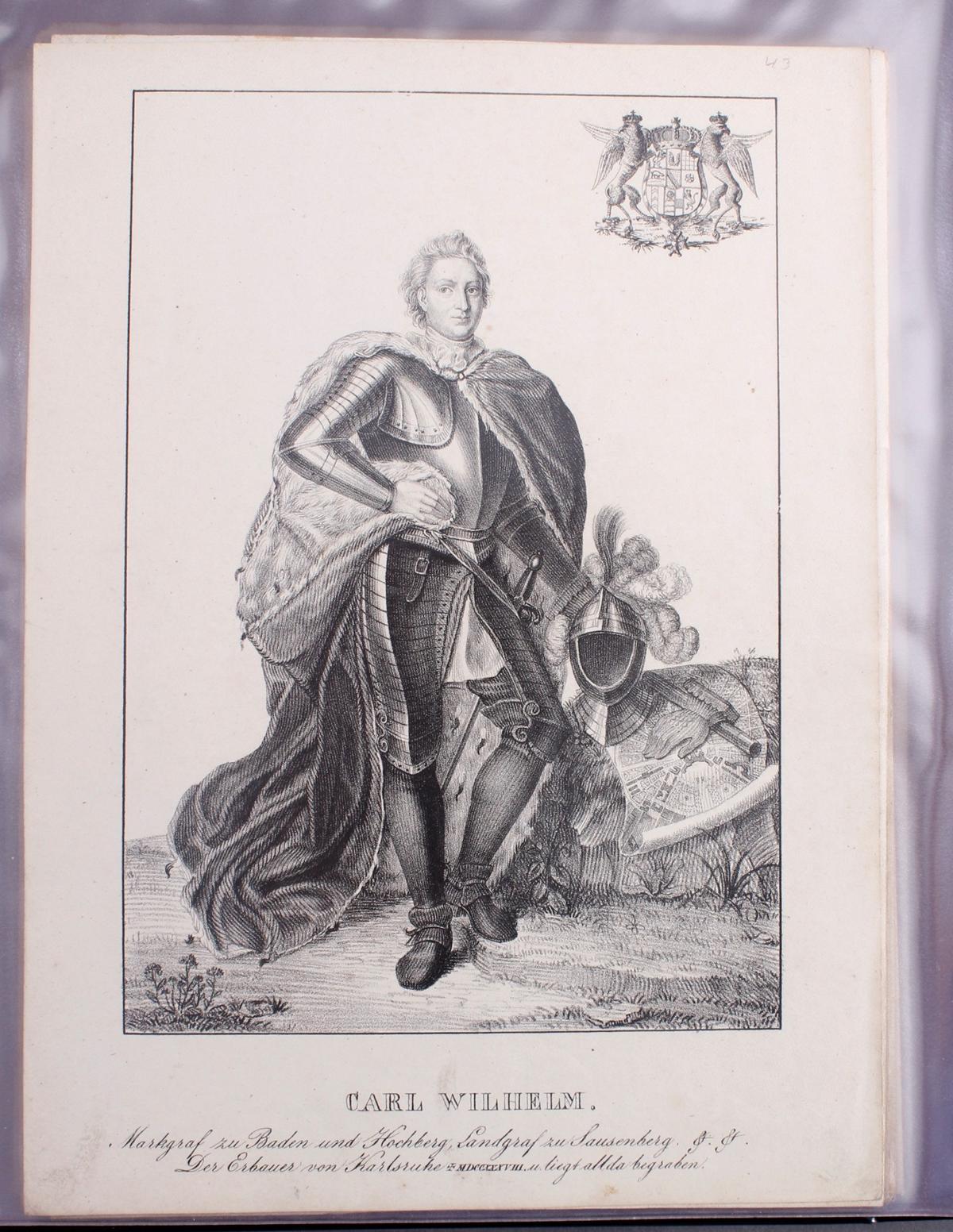 Abbildungen der Regenten des fürstlichen Hauses Baden-42