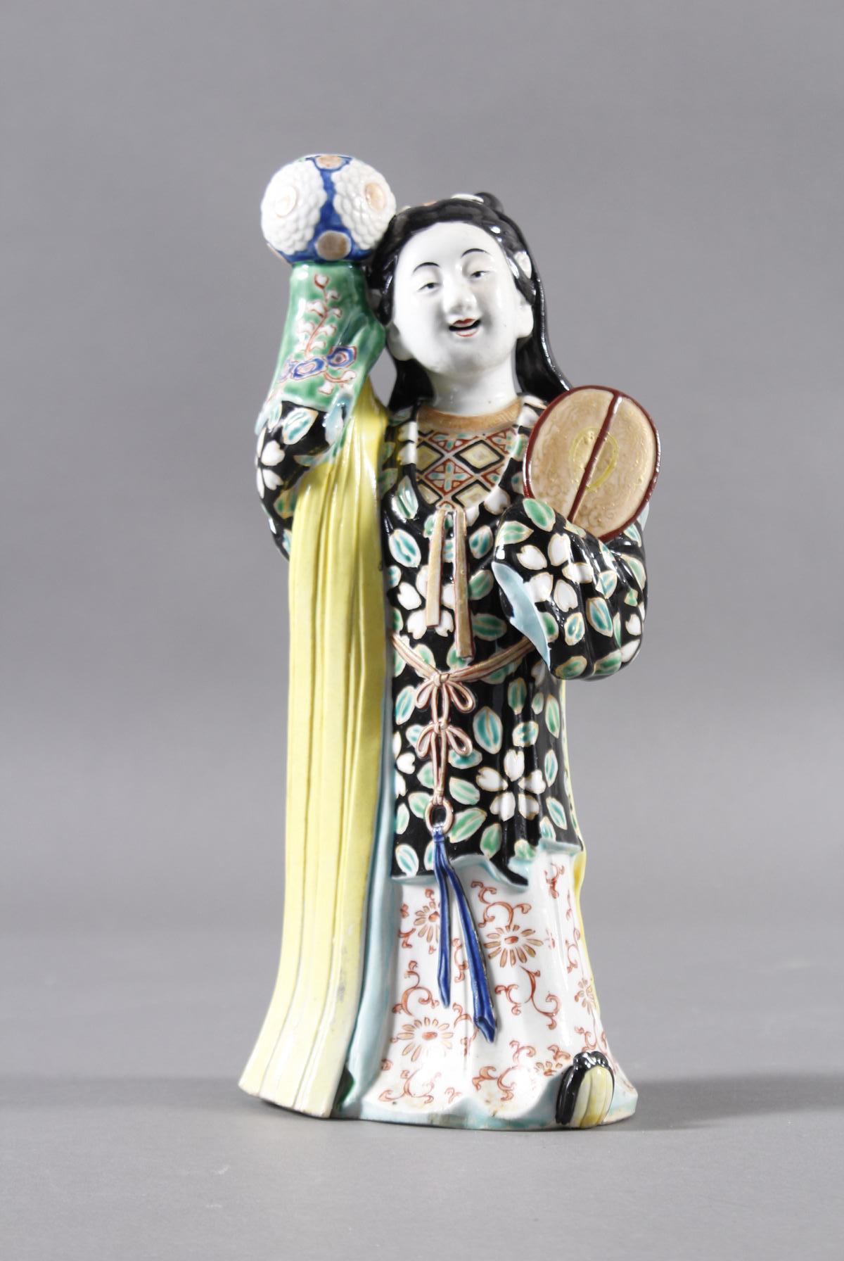 Porzellan-Räucherfigur, Mädchen, China 19. Jahrhundert