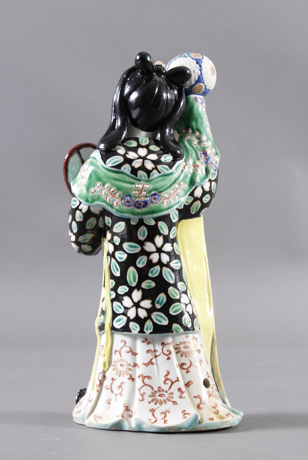 Porzellan-Räucherfigur, Mädchen, China 19. Jahrhundert-3