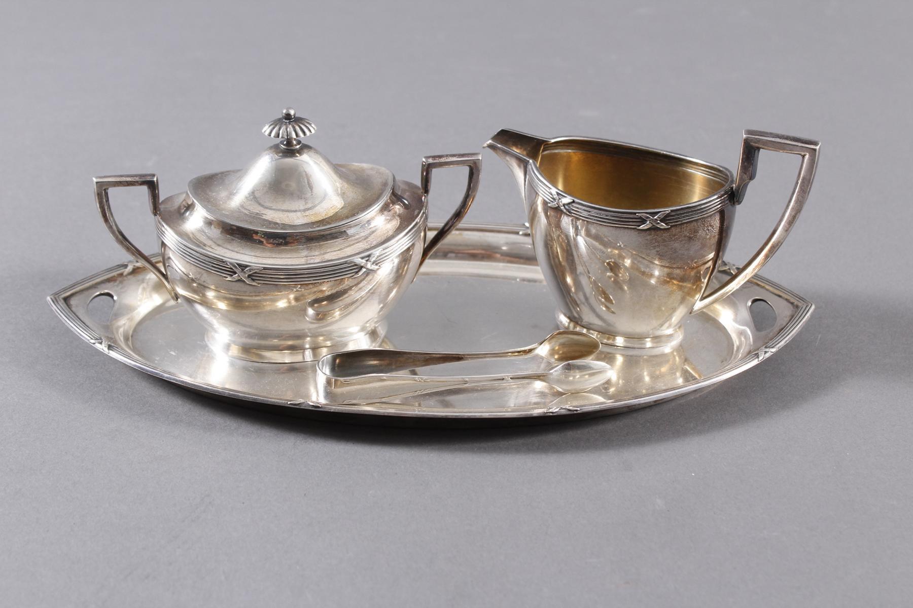 Silberset, 4-teilig, Wilhelm Binder Silber 800