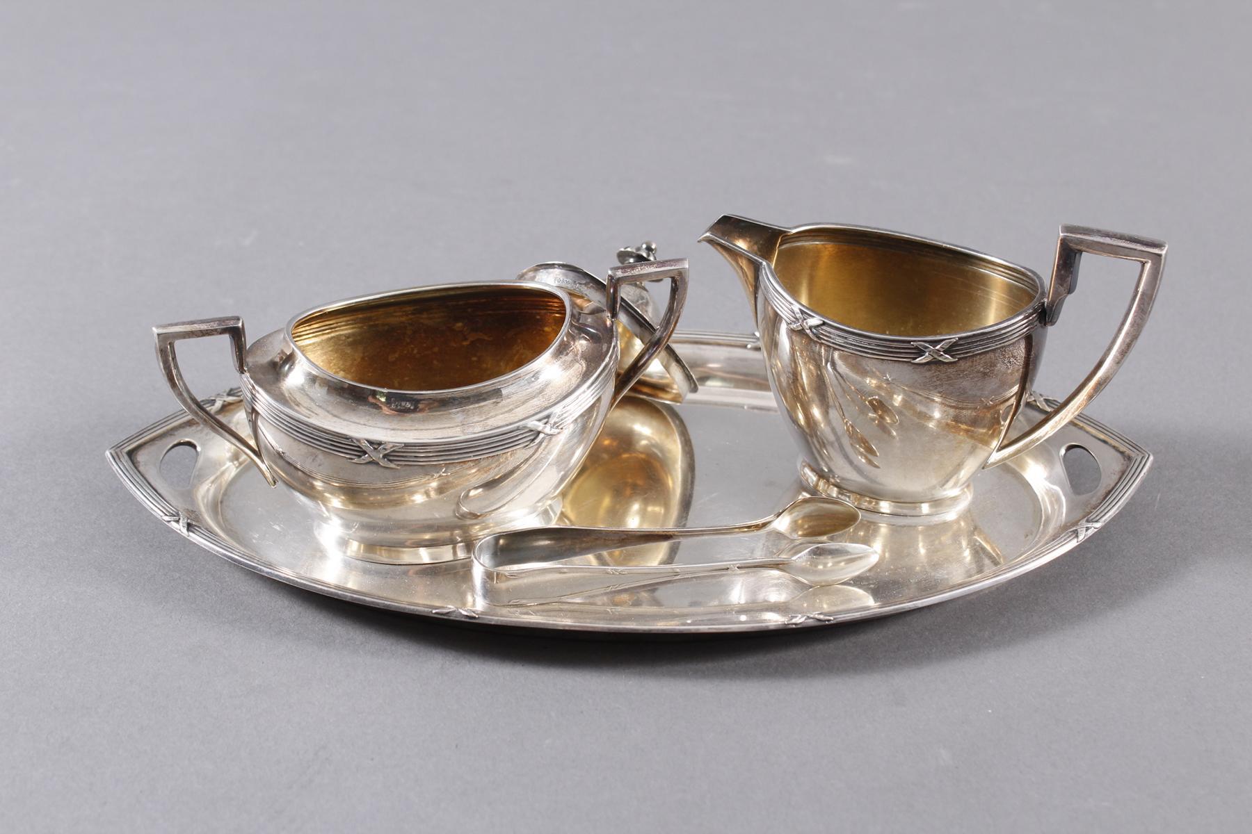 Silberset, 4-teilig, Wilhelm Binder Silber 800-2