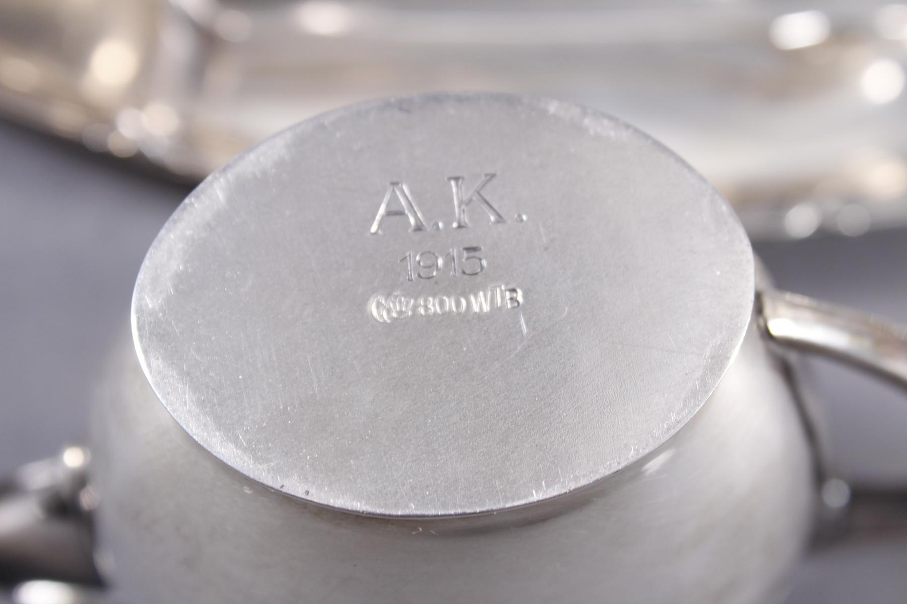 Silberset, 4-teilig, Wilhelm Binder Silber 800-3
