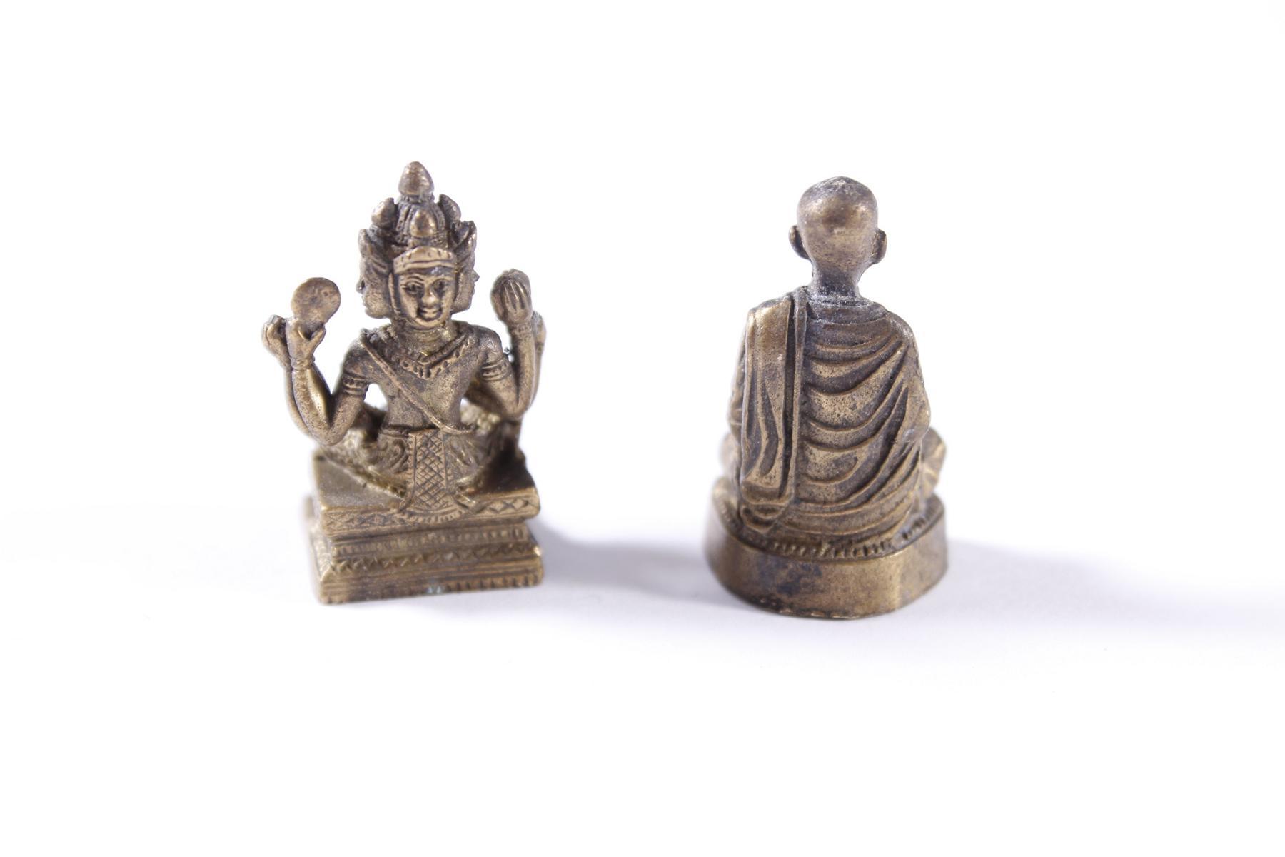 2 Miniatur-Buddhas aus Bronze, Tibet 20. Jahrhundert-2