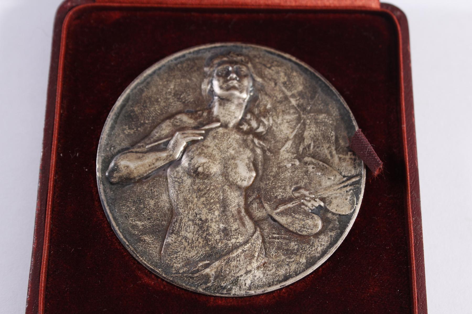 Jugendstil-Medaille Verein Bildender Künstler Karlsruhe-2