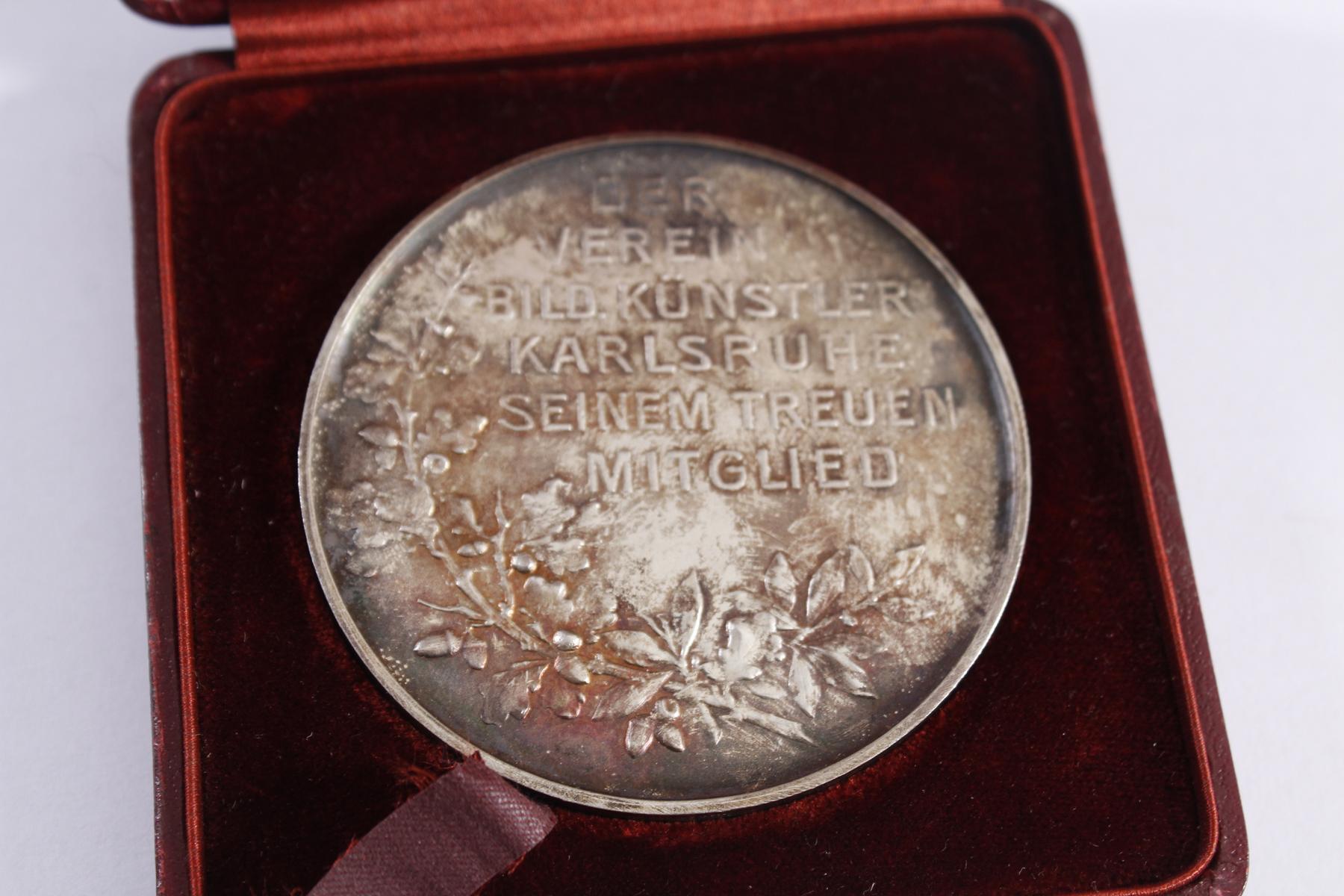 Jugendstil-Medaille Verein Bildender Künstler Karlsruhe-3