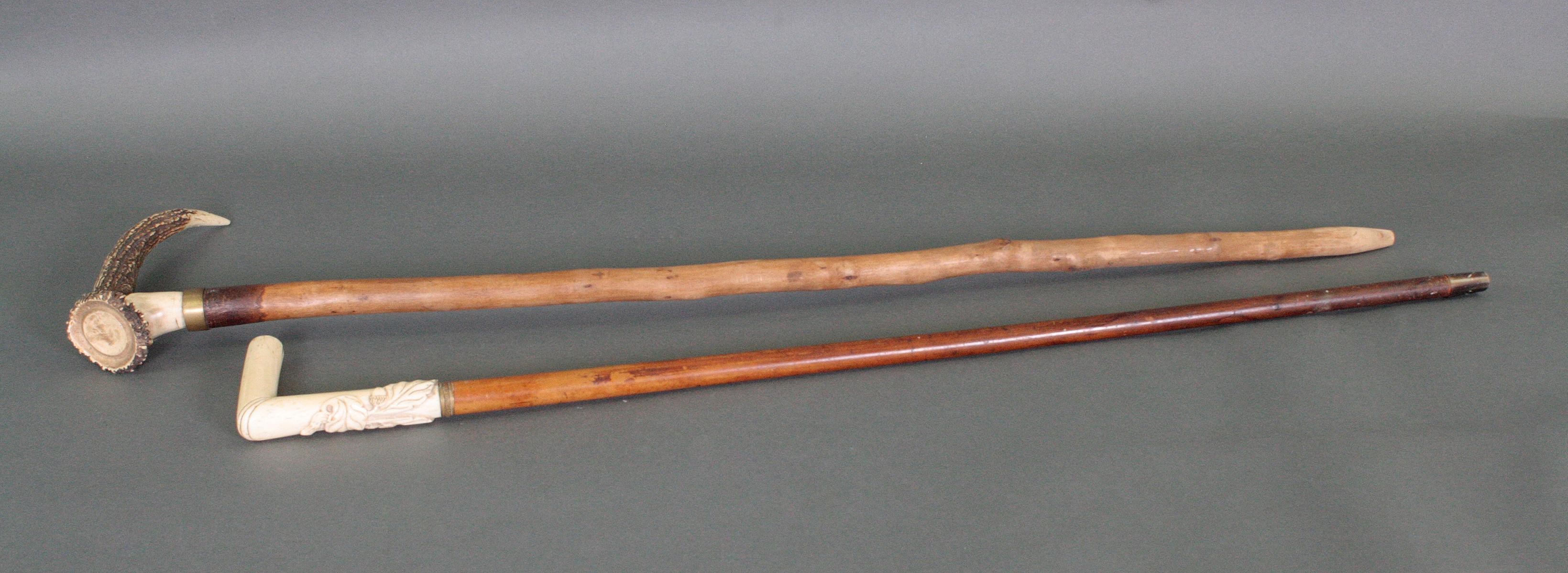 Zwei Gehstöcke um 1900-4