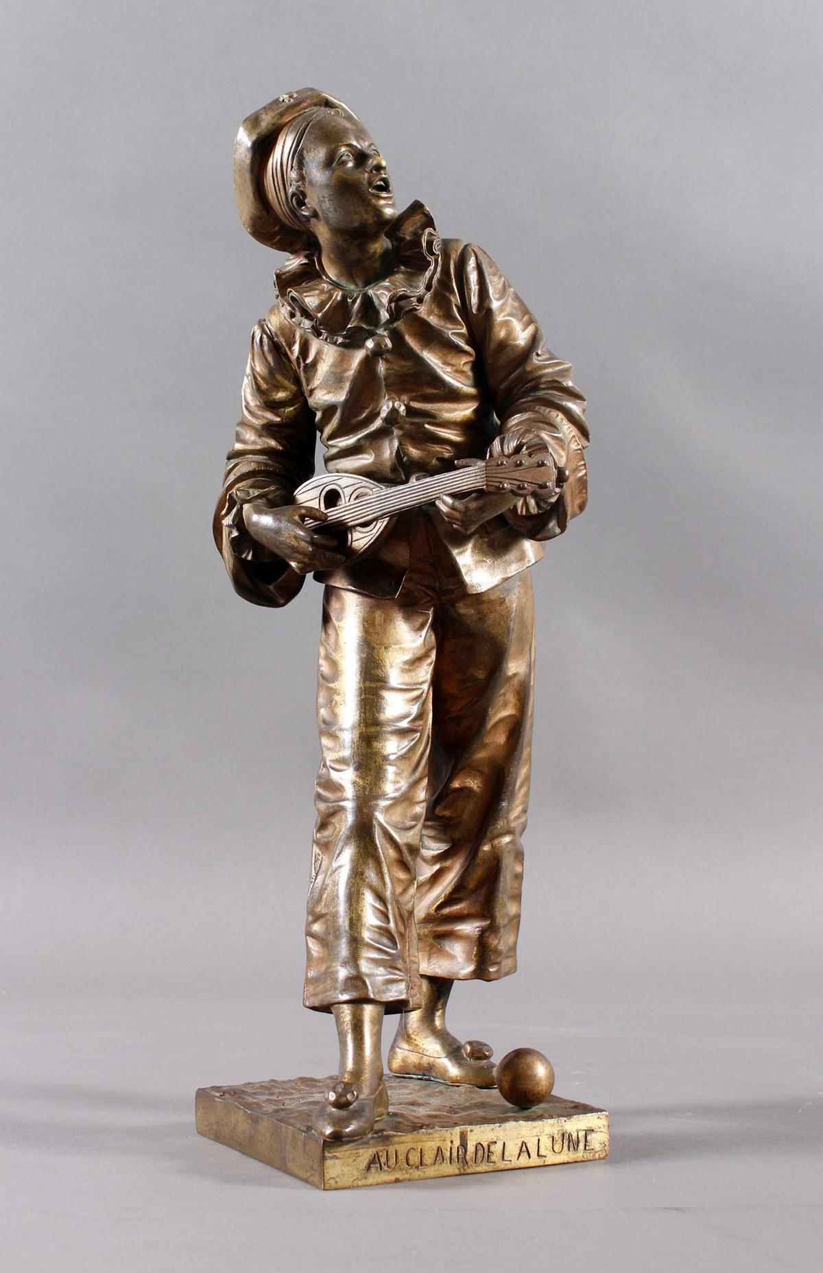 Eutrope Bouret (1833-1906), Bronzeskulptur 'Au claire de la Lune' um 1890/1900