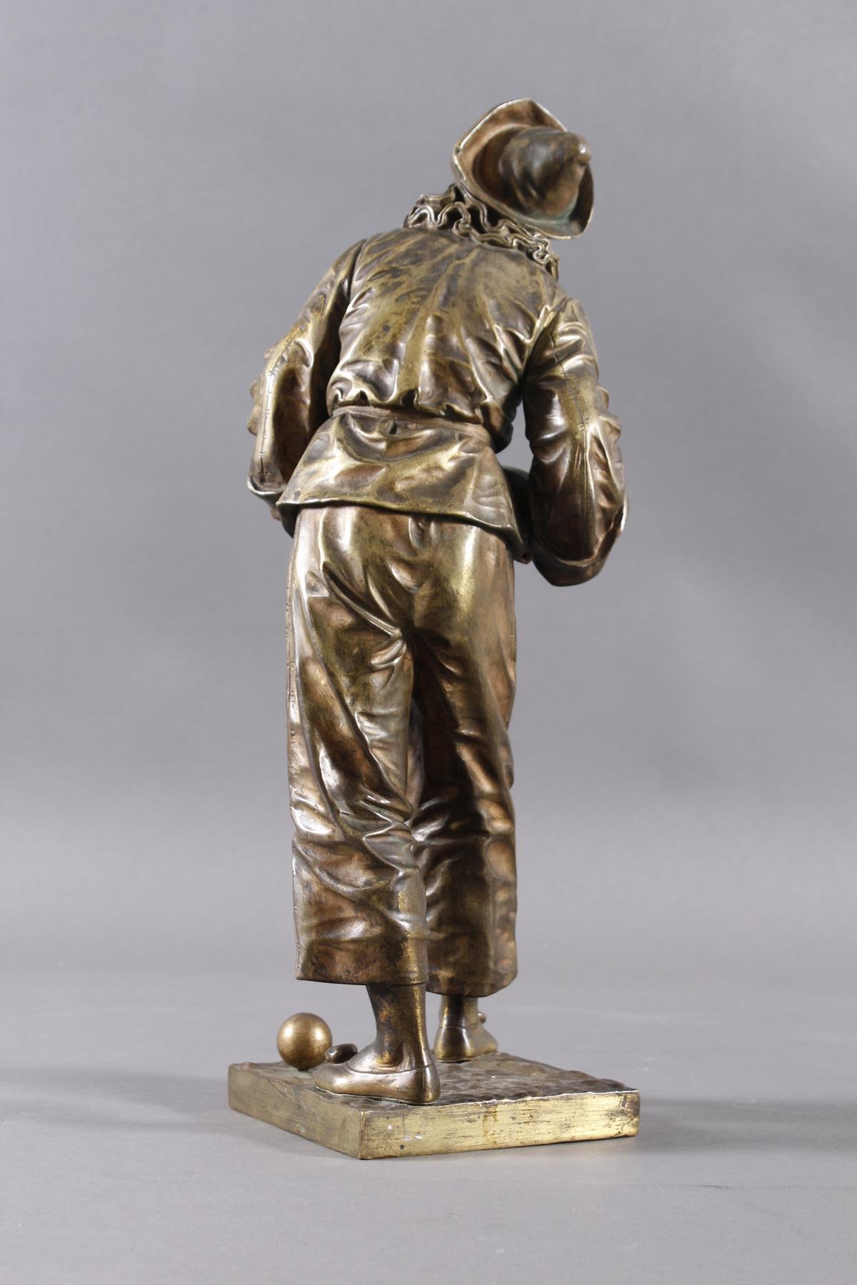 Eutrope Bouret (1833-1906), Bronzeskulptur 'Au claire de la Lune' um 1890/1900-4