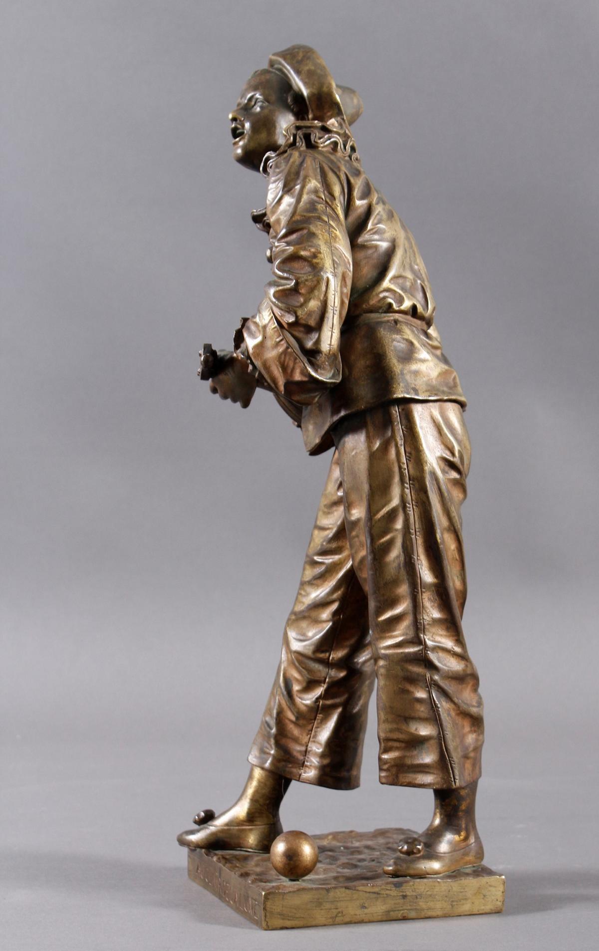 Eutrope Bouret (1833-1906), Bronzeskulptur 'Au claire de la Lune' um 1890/1900-5
