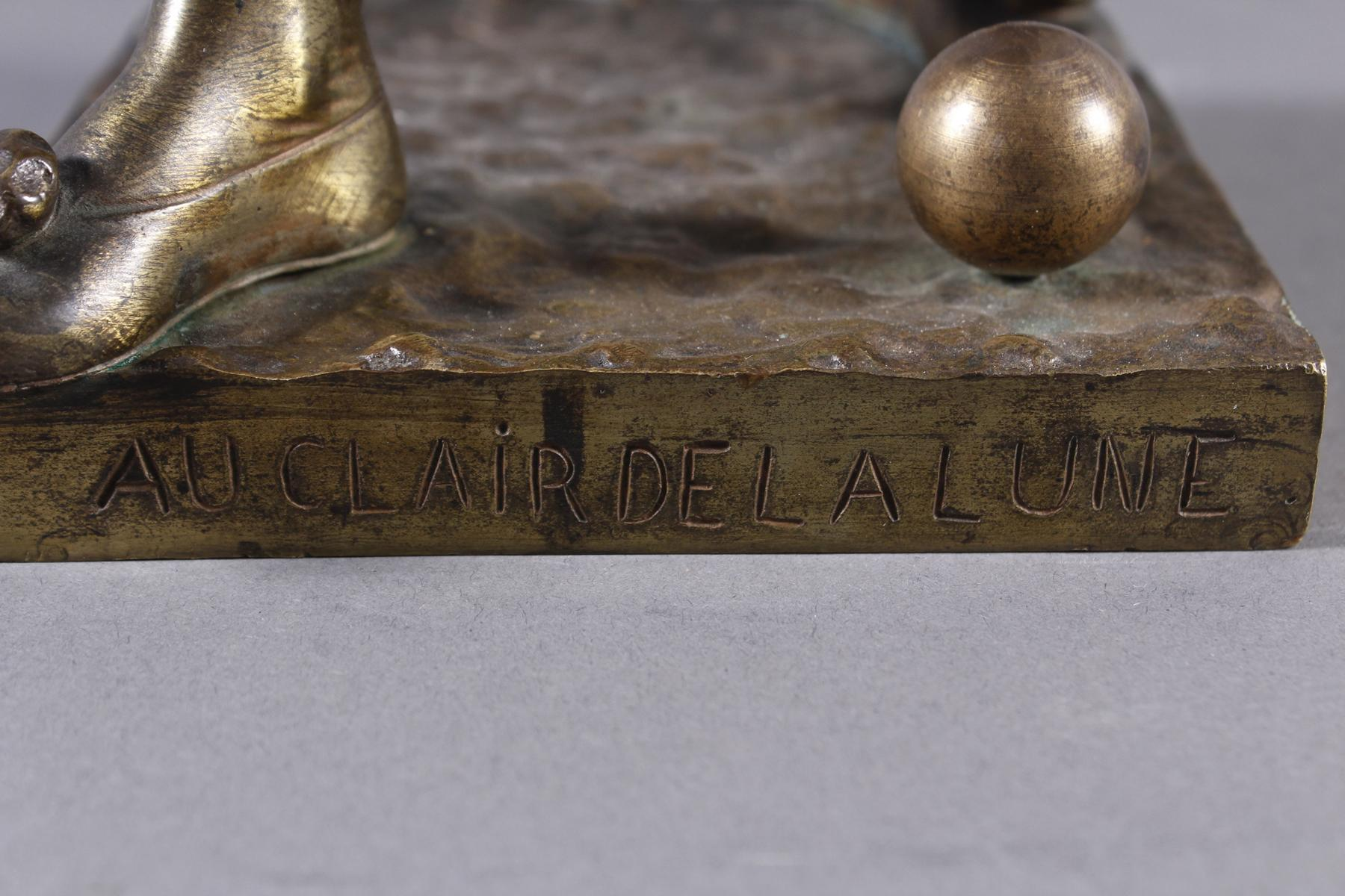 Eutrope Bouret (1833-1906), Bronzeskulptur 'Au claire de la Lune' um 1890/1900-7