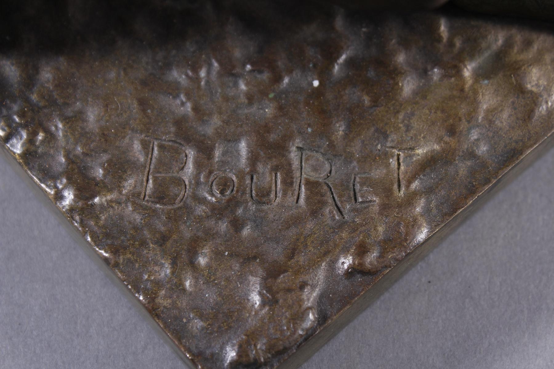 Eutrope Bouret (1833-1906), Bronzeskulptur 'Au claire de la Lune' um 1890/1900-8