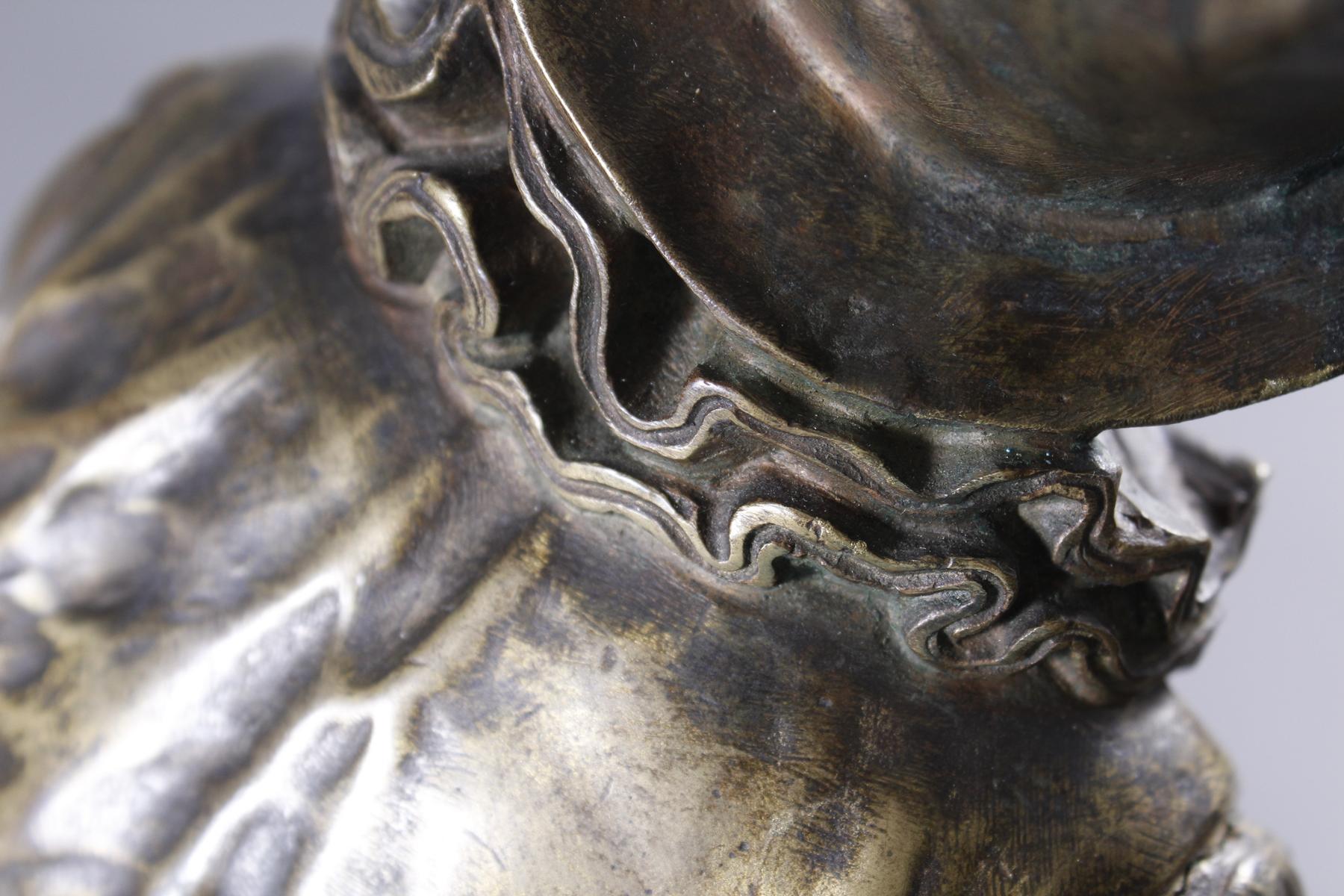 Eutrope Bouret (1833-1906), Bronzeskulptur 'Au claire de la Lune' um 1890/1900-9
