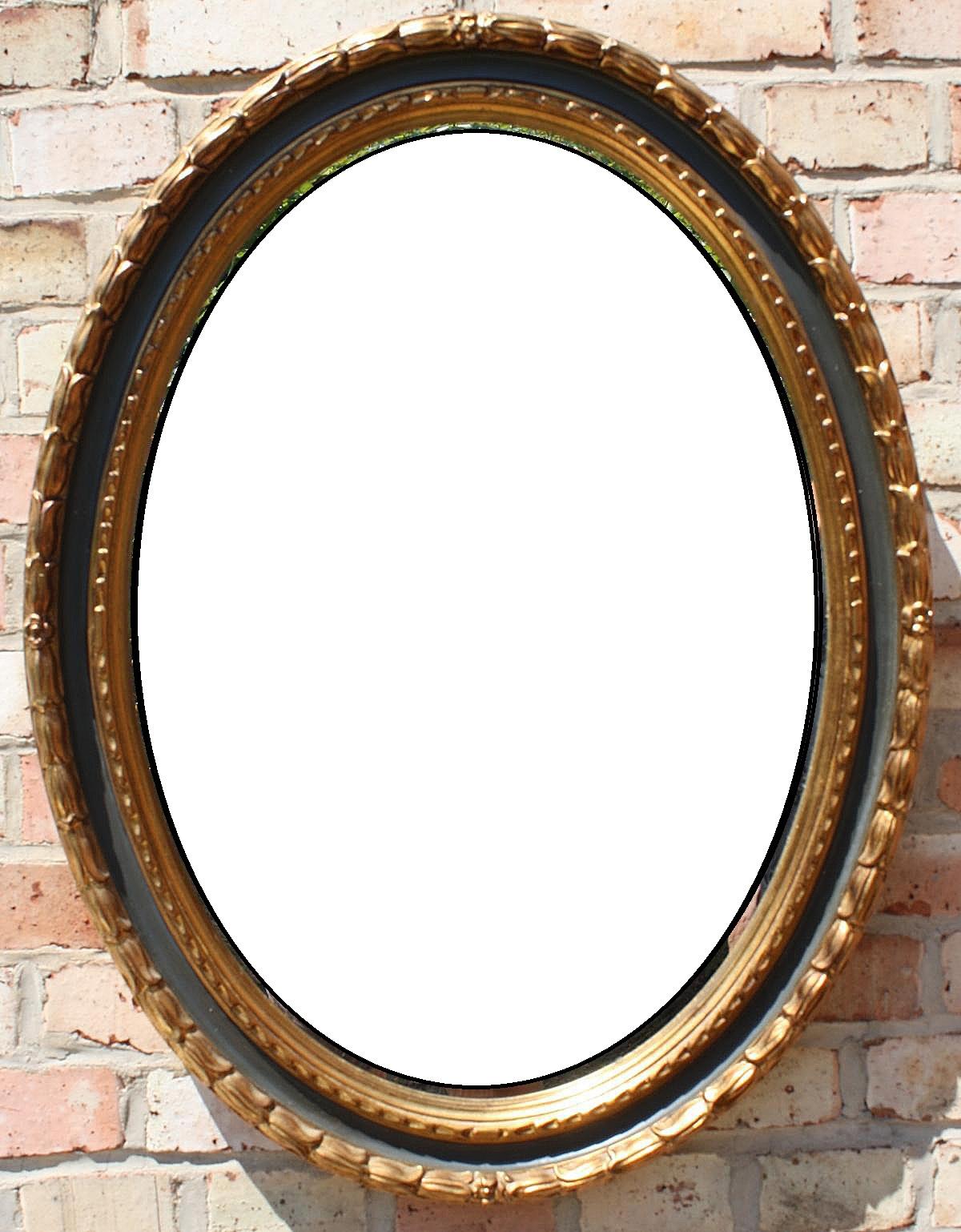 Ovaler Spiegel Louis XVI-Stil 19./20. Jahrhundert
