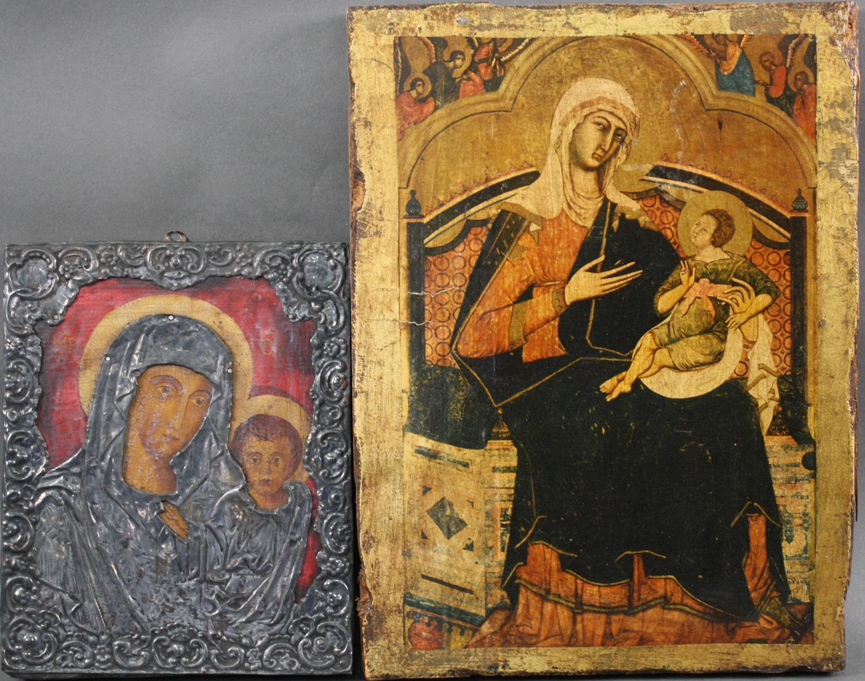 Zwei Ikonen der Gottesmutter mit Kind
