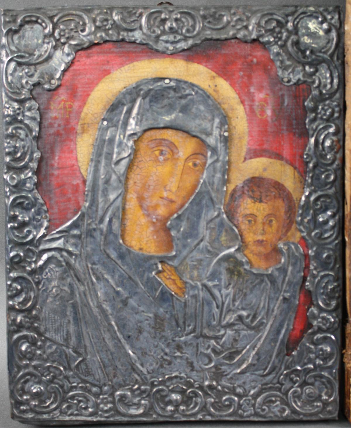 Zwei Ikonen der Gottesmutter mit Kind-2