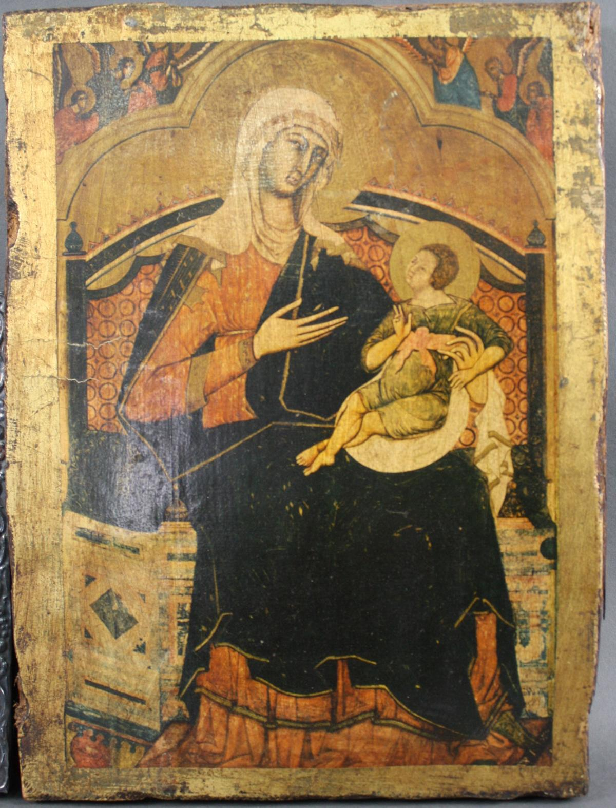 Zwei Ikonen der Gottesmutter mit Kind-3