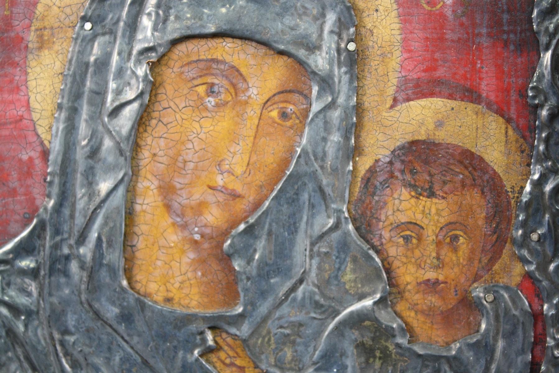 Zwei Ikonen der Gottesmutter mit Kind-4
