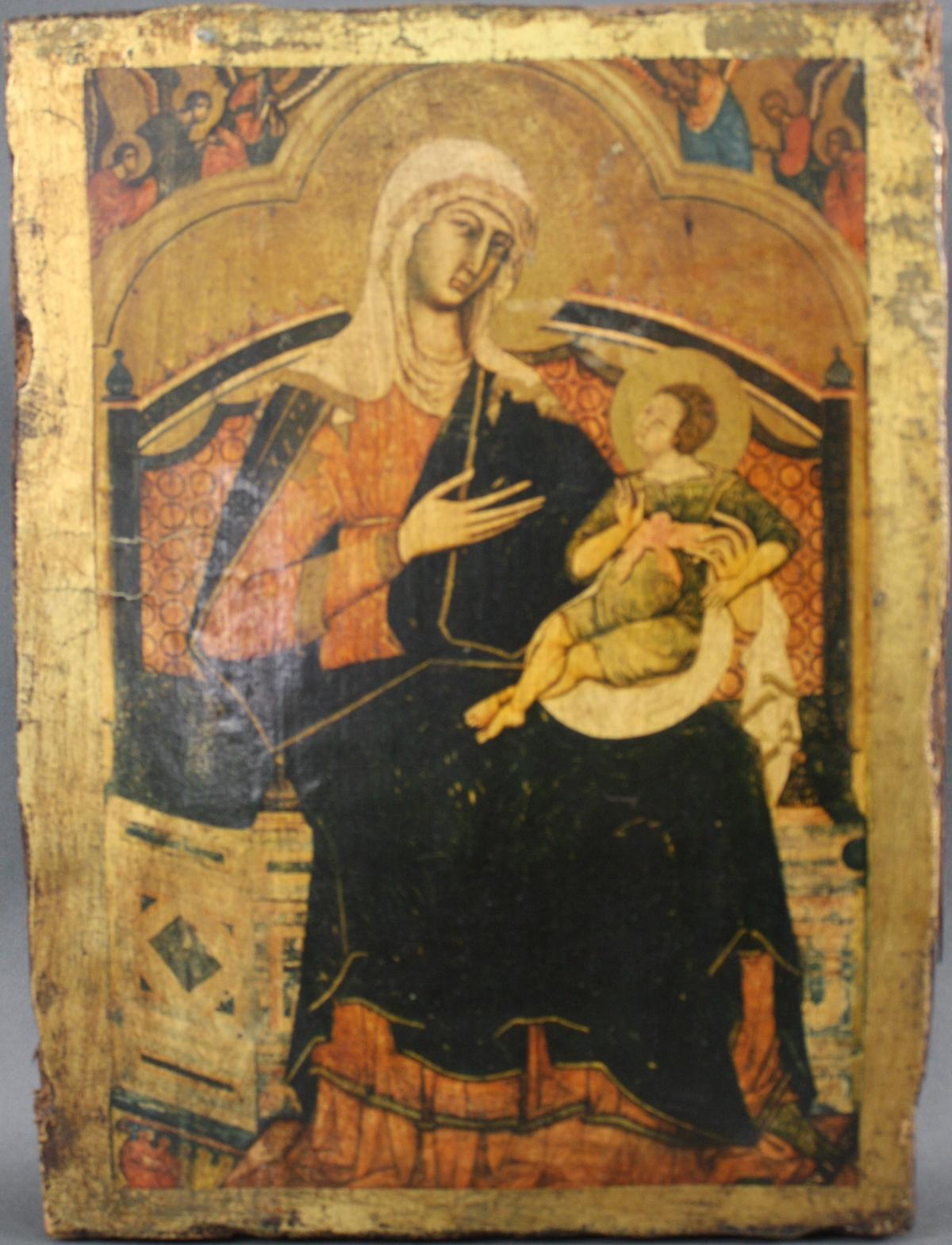 Zwei Ikonen der Gottesmutter mit Kind-5
