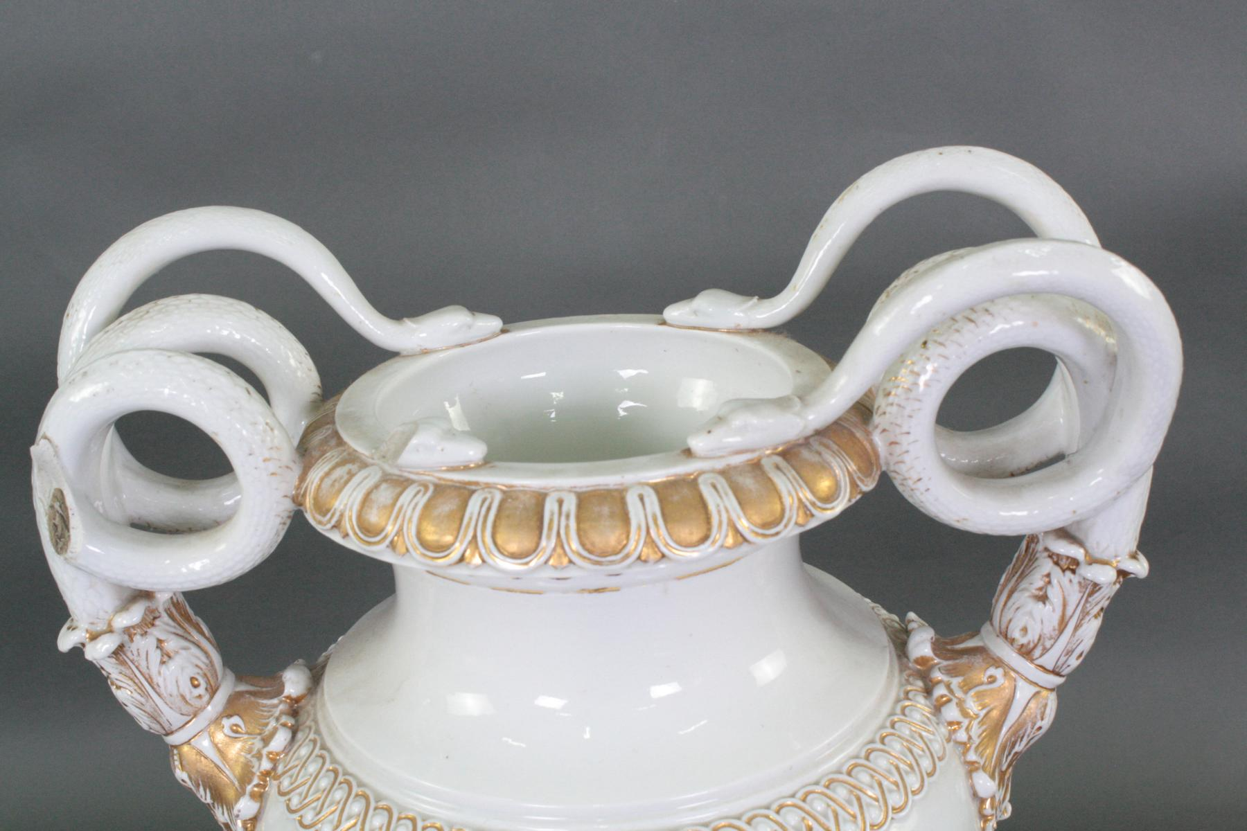 Große Schlangenhenkelvase, Manufaktur Meissen-3