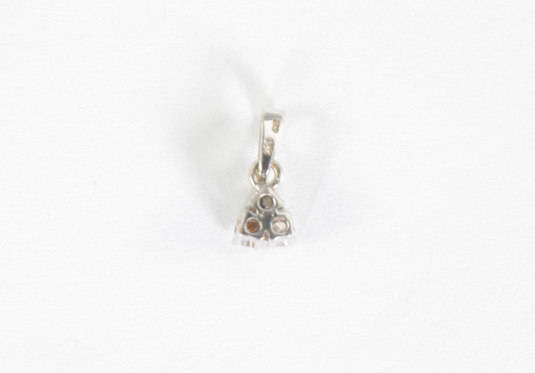Anhänger mit Diamanten, 14 Karat Weißgold-2