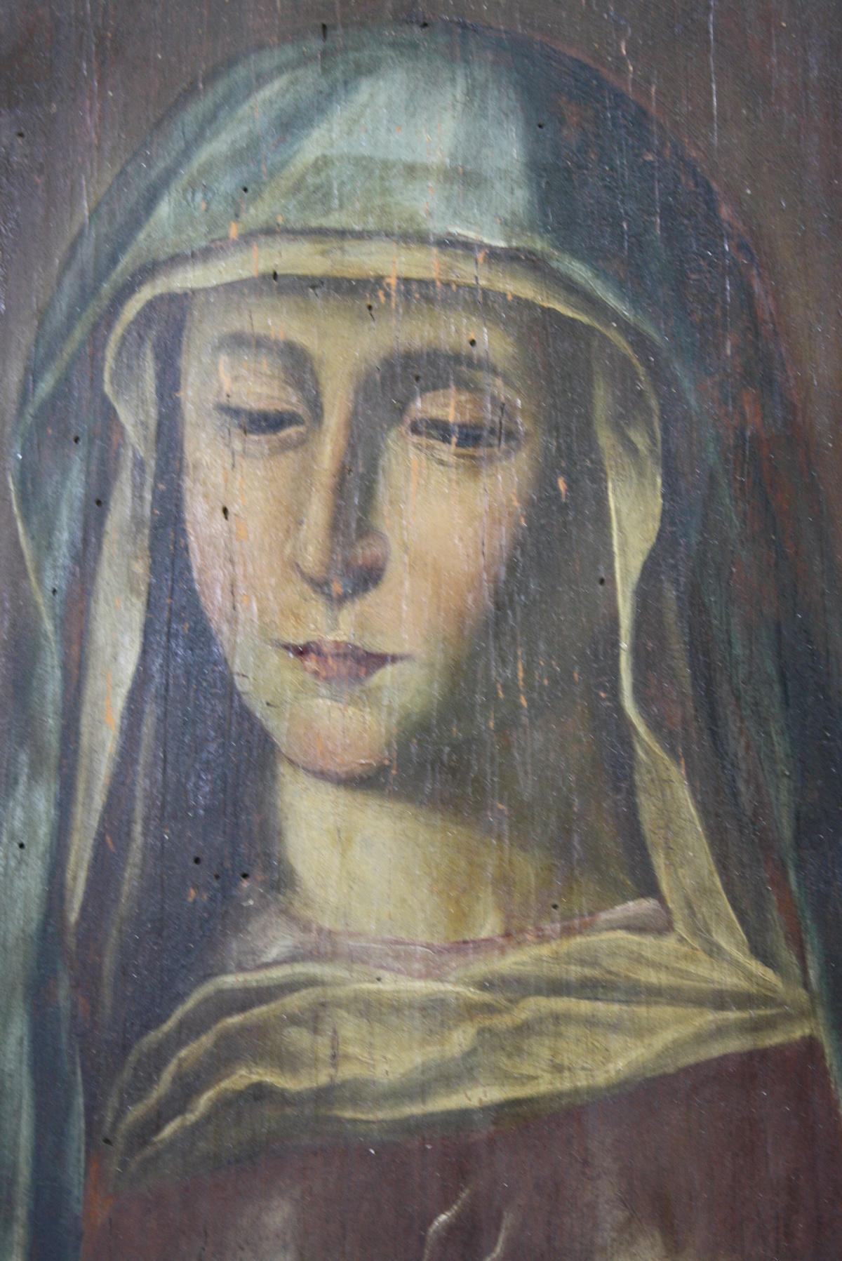 Antikes Marienbildnis, wohl Russland-2