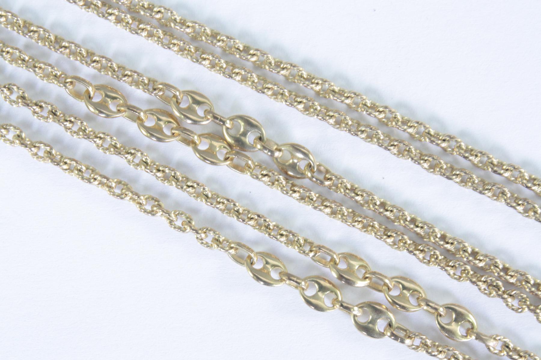Halskette 8 Karat Gelbgold-2