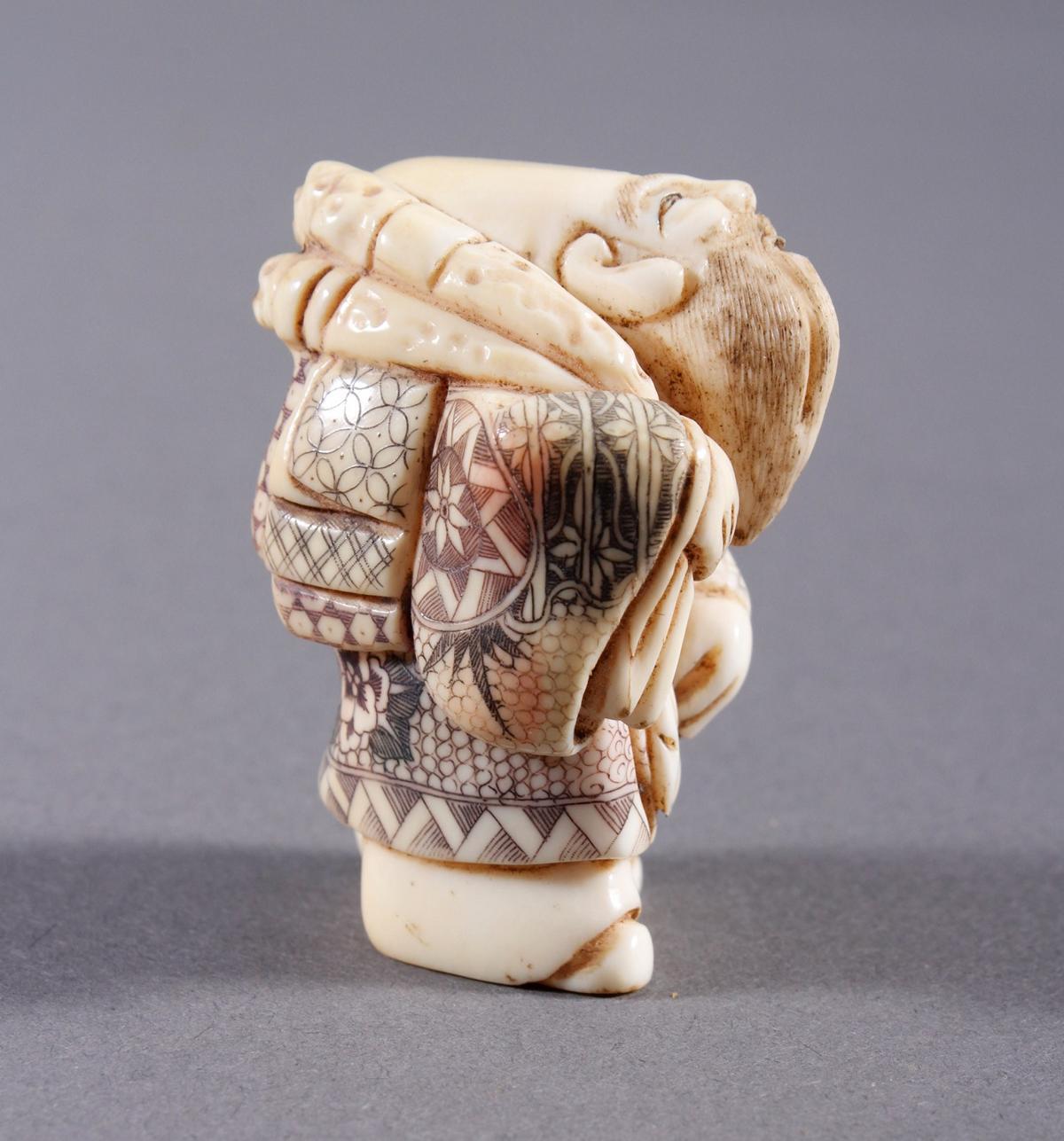 Elfenbein Okimono, Unsterblicher, Japan, Meiji Periode-2