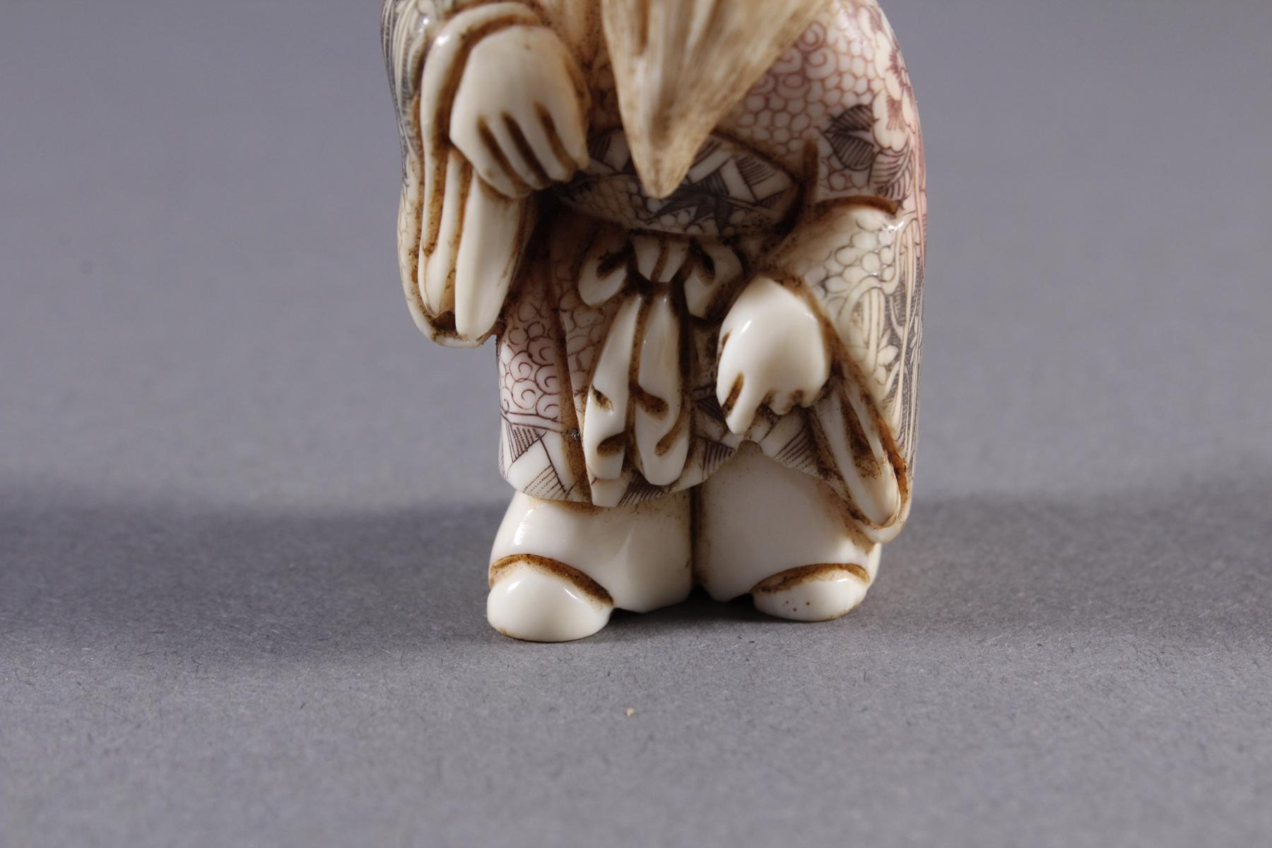 Elfenbein Okimono, Unsterblicher, Japan, Meiji Periode-5