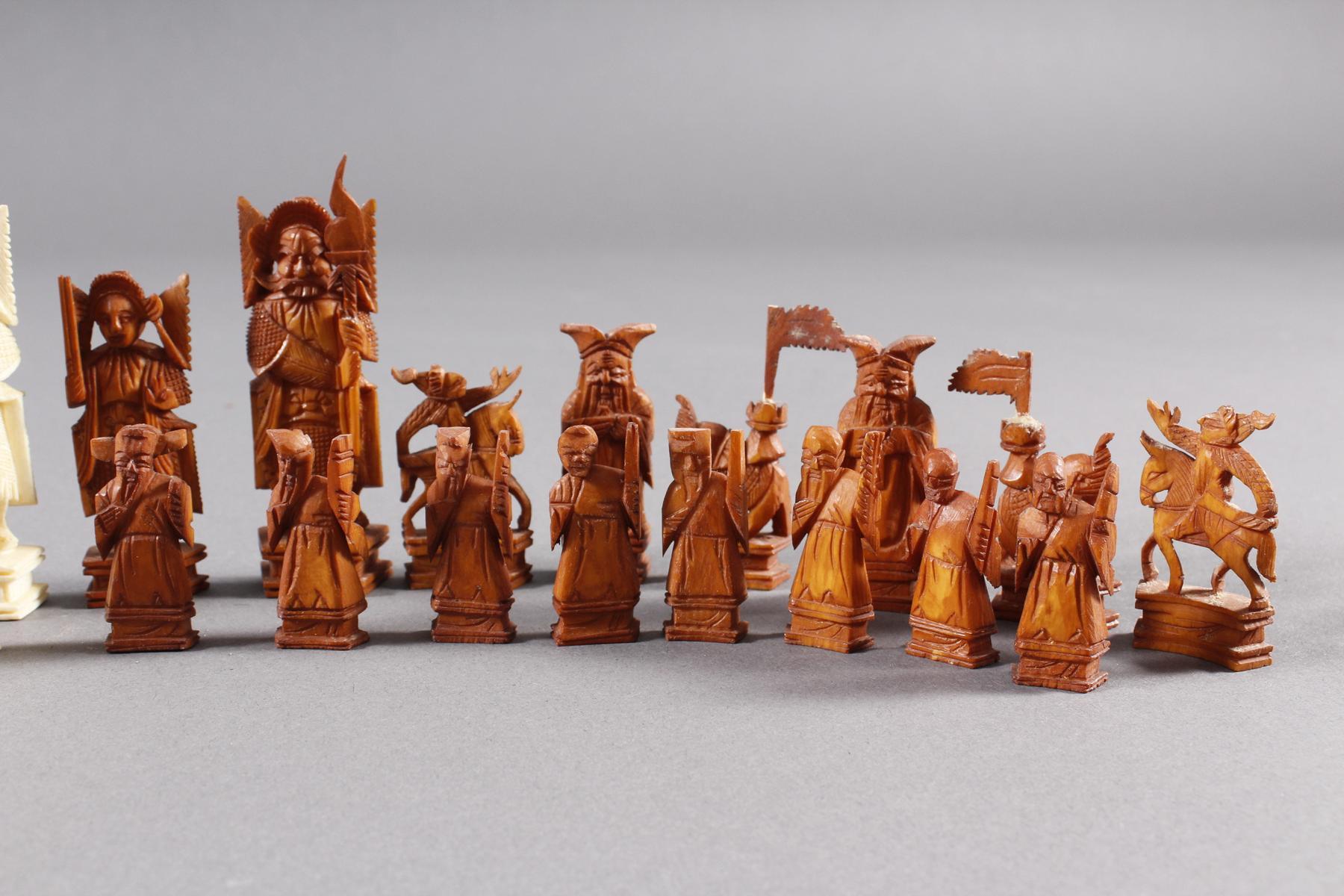 Elfenbein Schachspiel, China um 1930-2