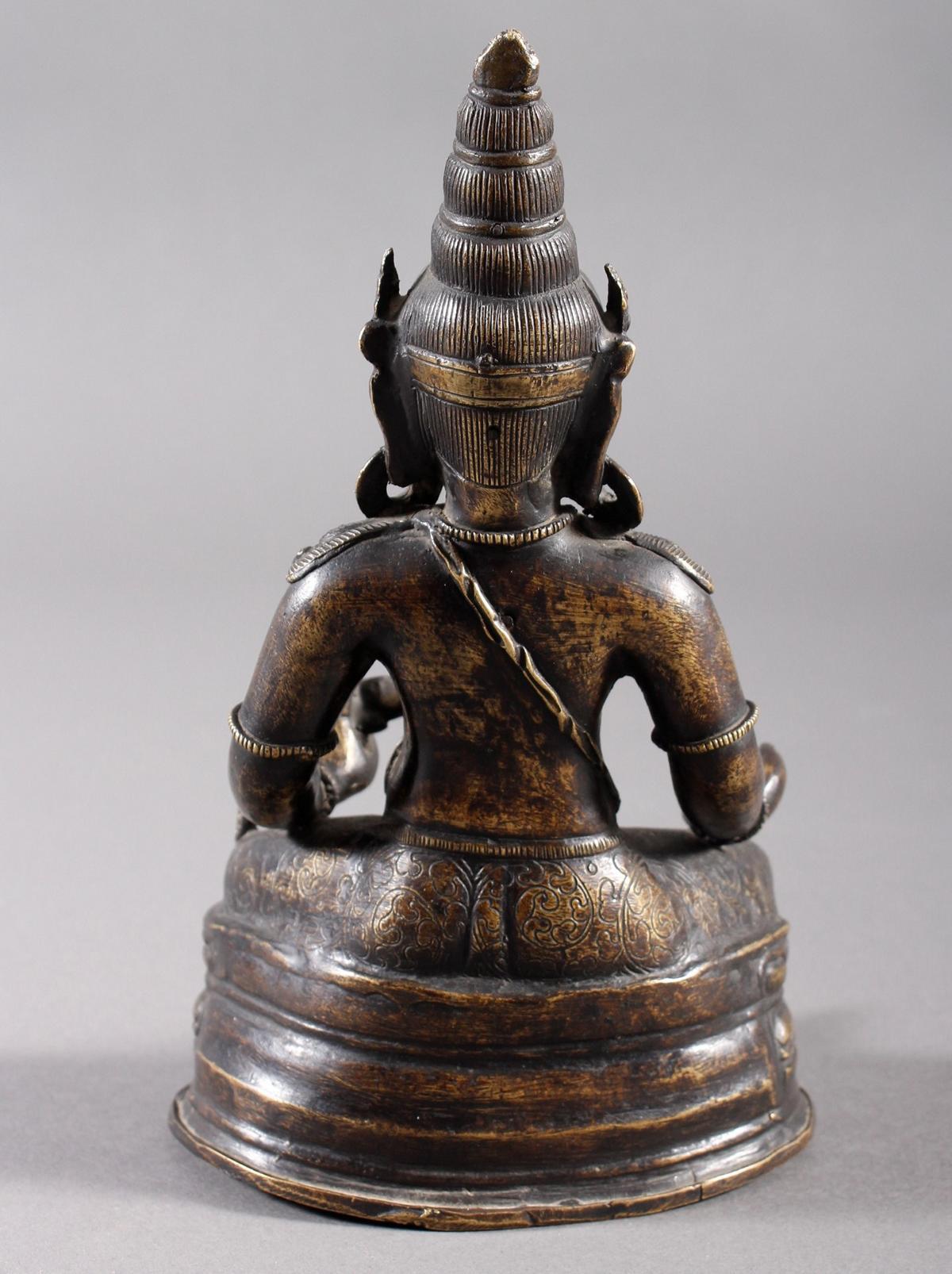 Bronze Buddha, Jambhala, Tibet, 17. / 18.. Jahrhundert-3
