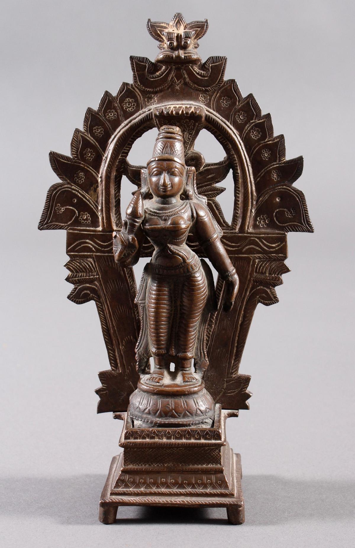 Bronze, Hinduistische Gottheit, Indien, 18. / 19. Jahrhundert