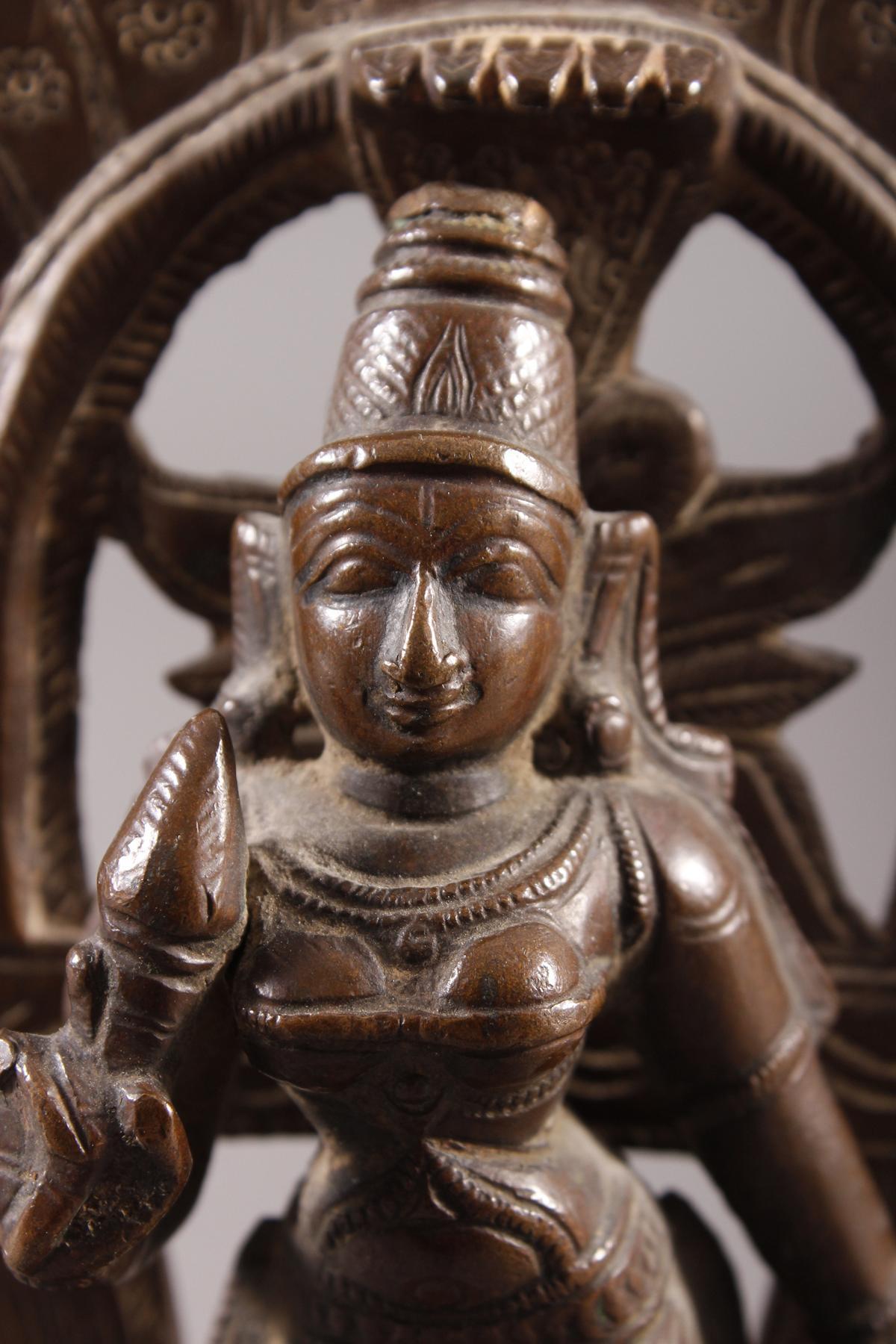 Bronze, Hinduistische Gottheit, Indien, 18. / 19. Jahrhundert-2