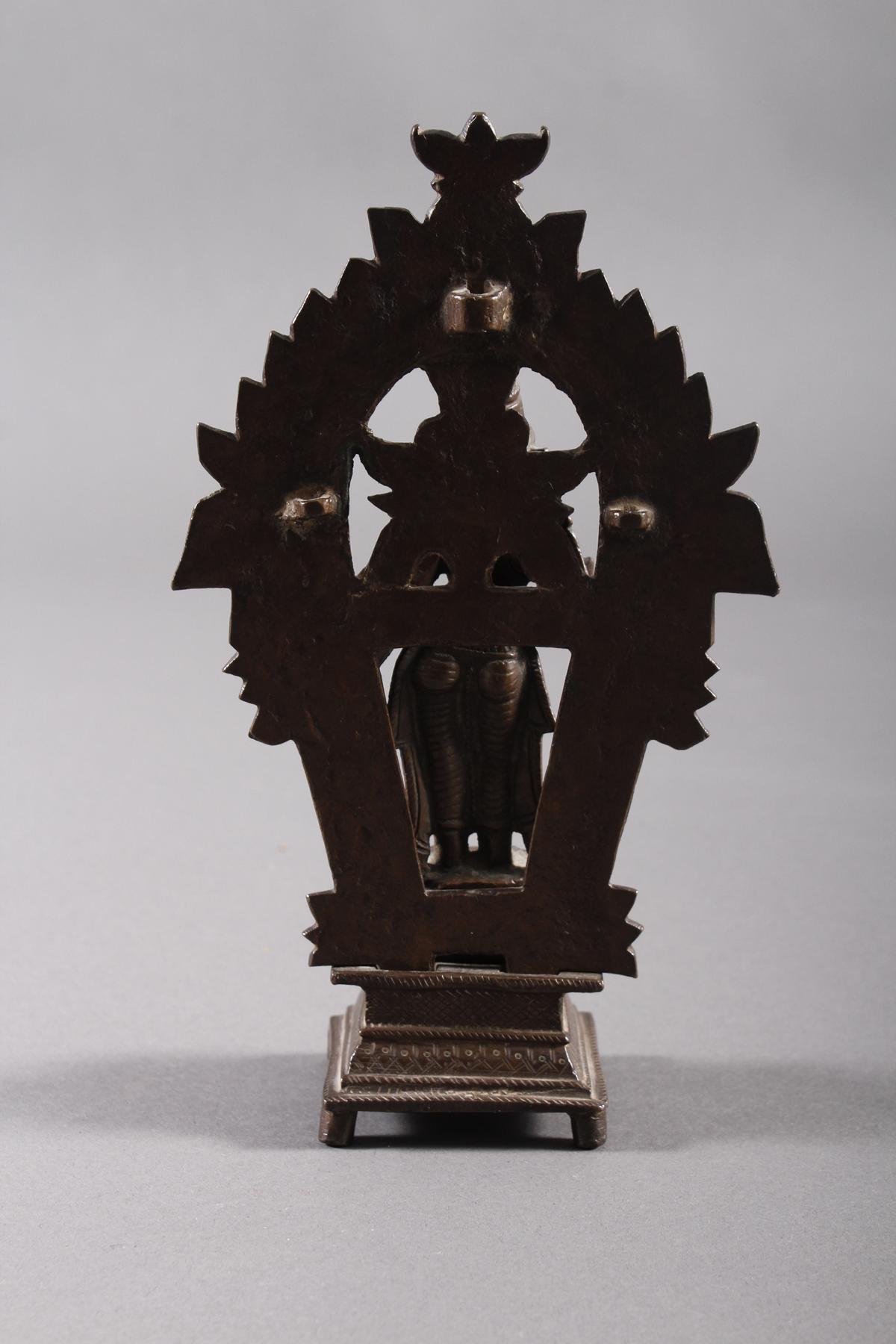Bronze, Hinduistische Gottheit, Indien, 18. / 19. Jahrhundert-4