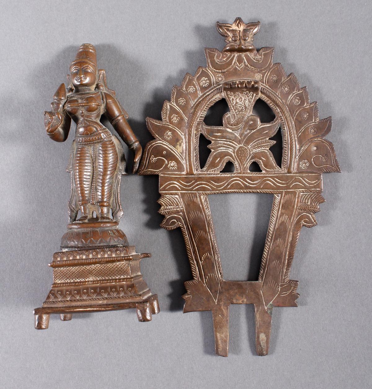 Bronze, Hinduistische Gottheit, Indien, 18. / 19. Jahrhundert-6
