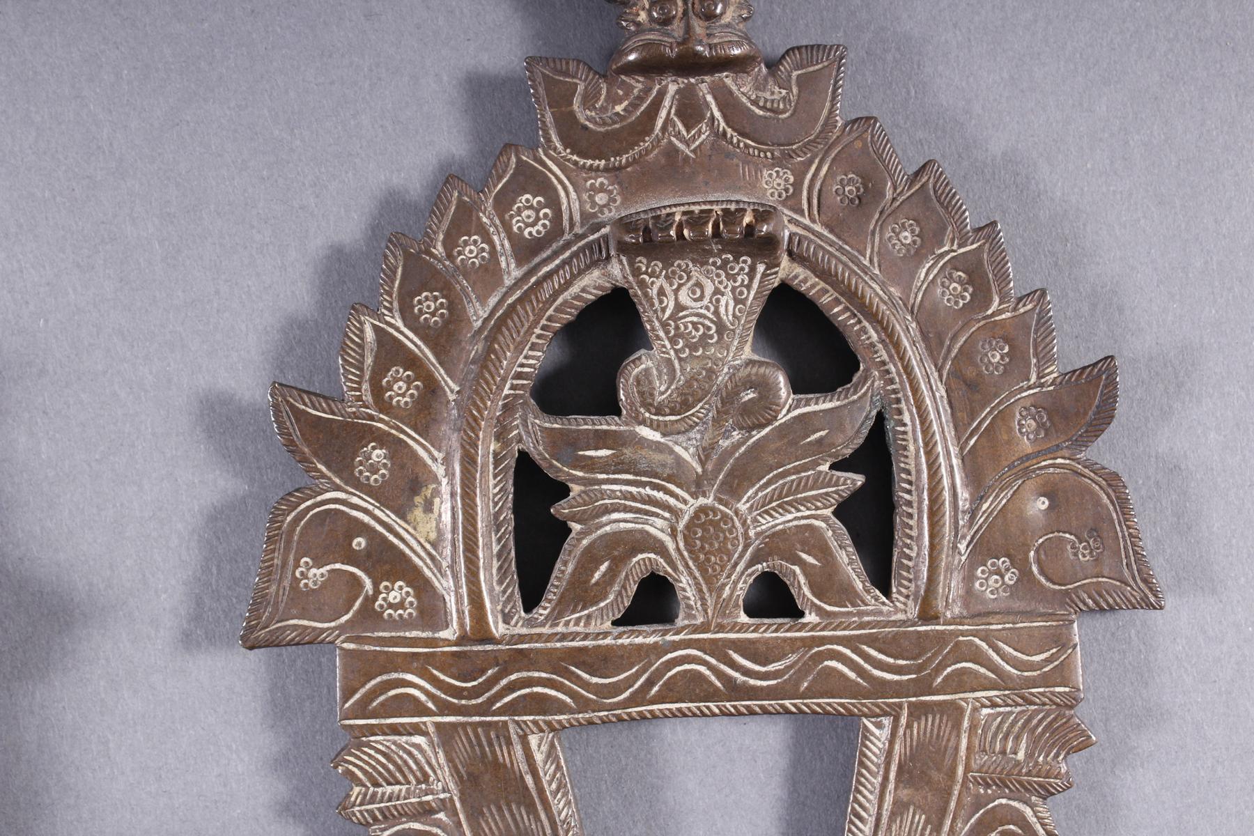 Bronze, Hinduistische Gottheit, Indien, 18. / 19. Jahrhundert-7